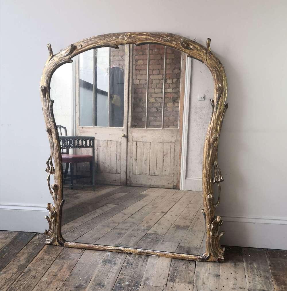 19th century over mantle mirror