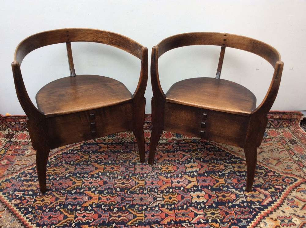 Pair of Arts and Craft Chairs