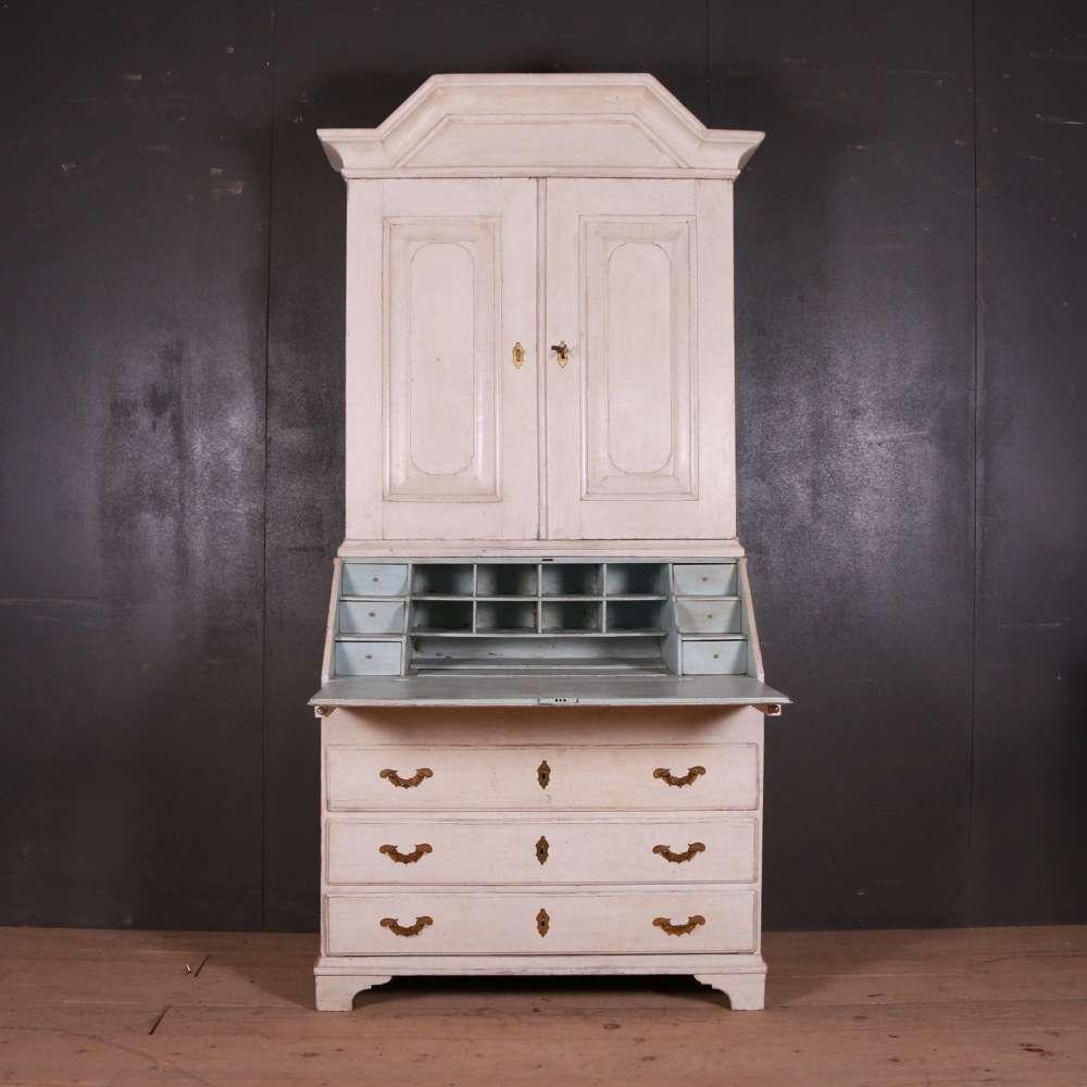 Swedish Oak Bureau Bookcase