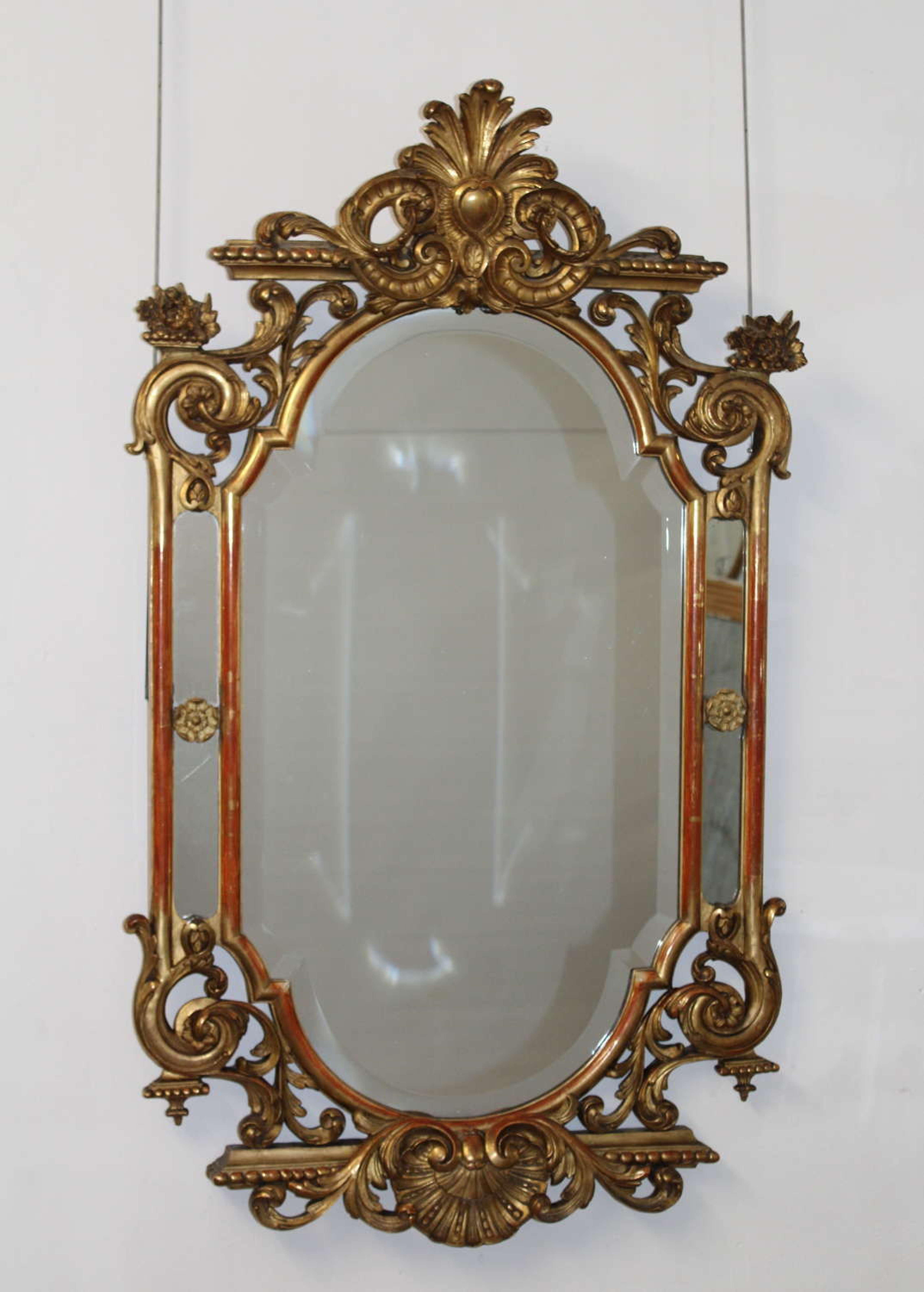 Elegant Decorative Portrait Antique Mirror In Decorative Antique Mirrors