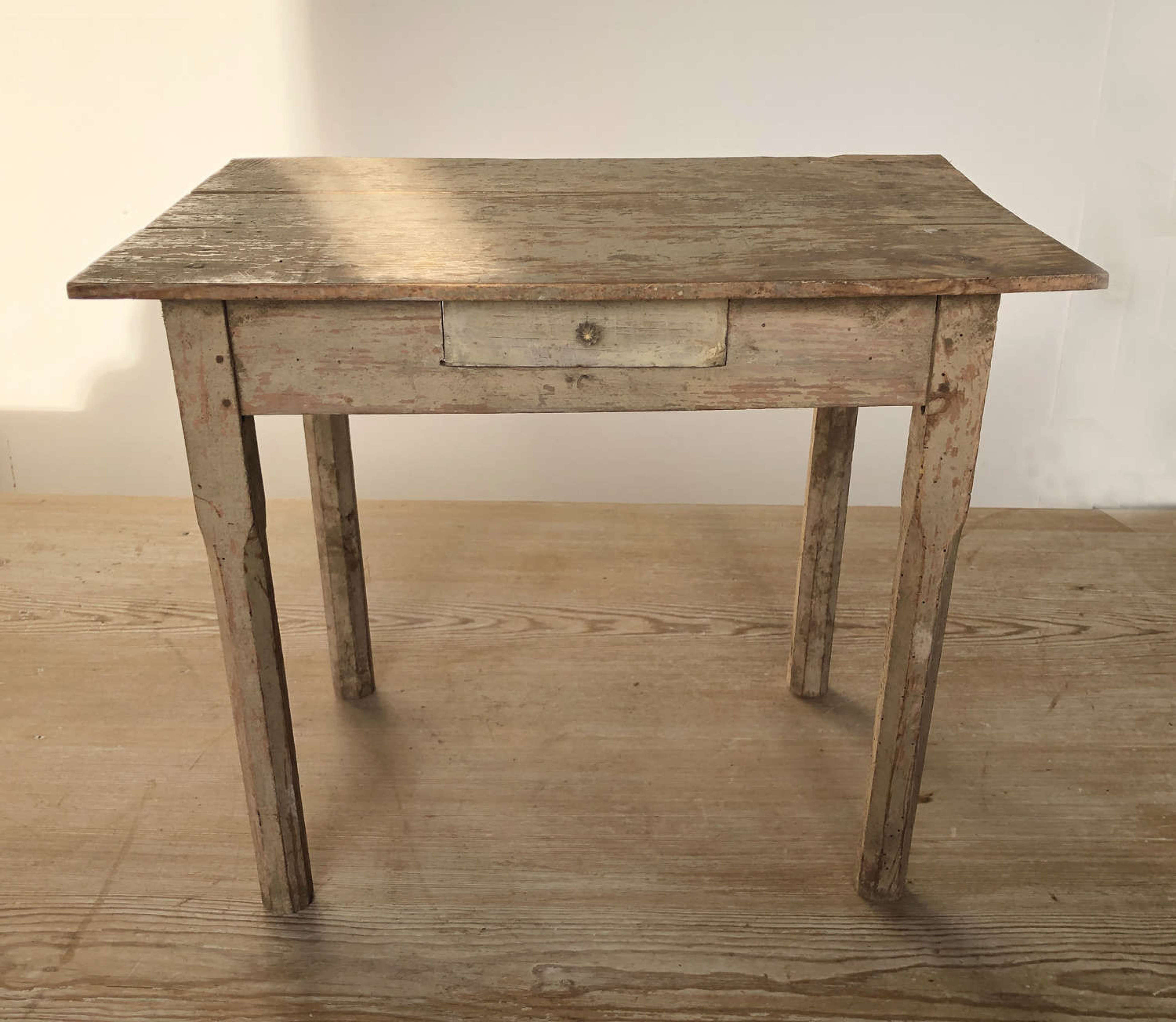 Miniature English Pine Kitchen Table Circa 1940 In Antique Tables