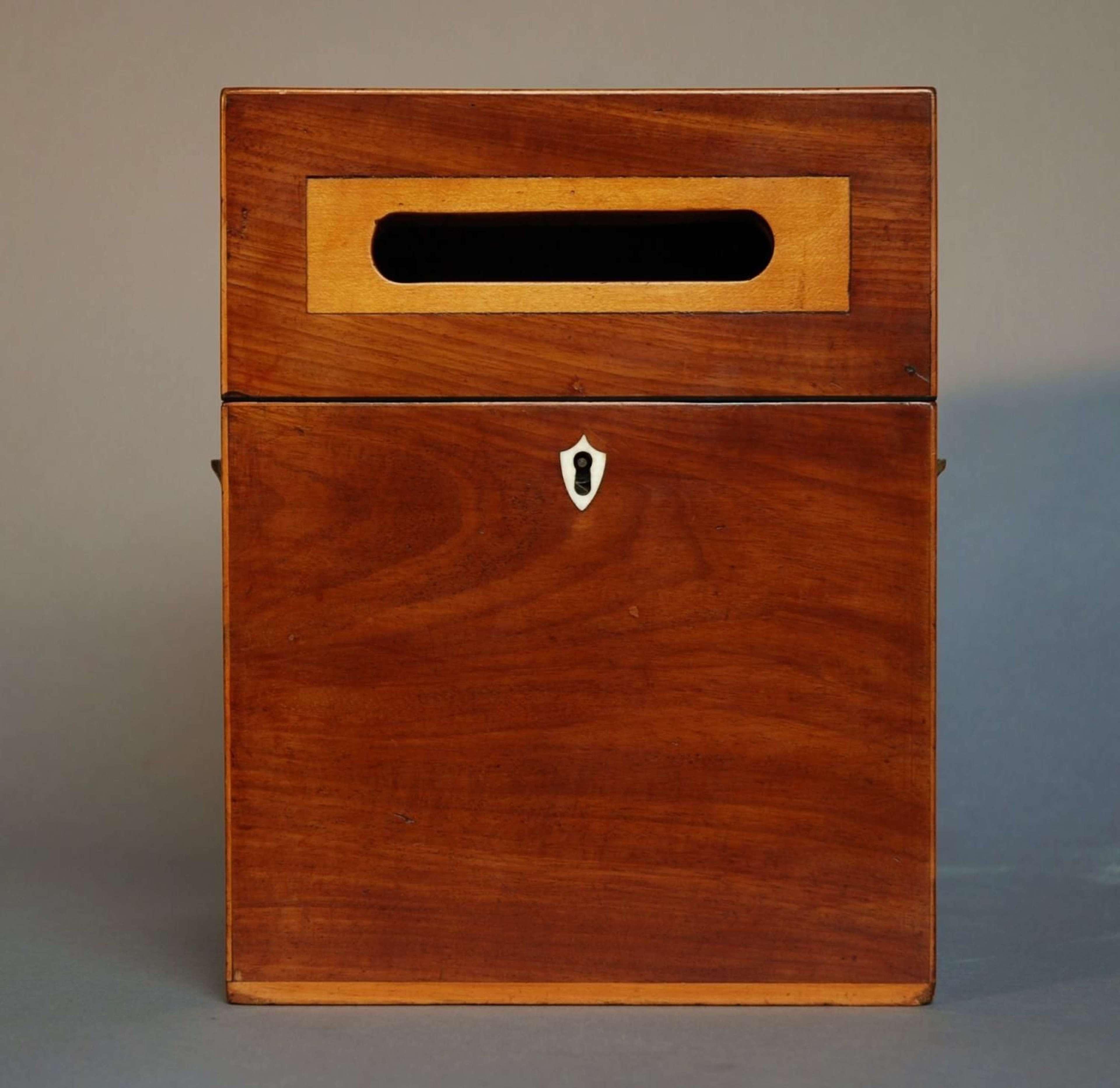 18thc mahogany post box