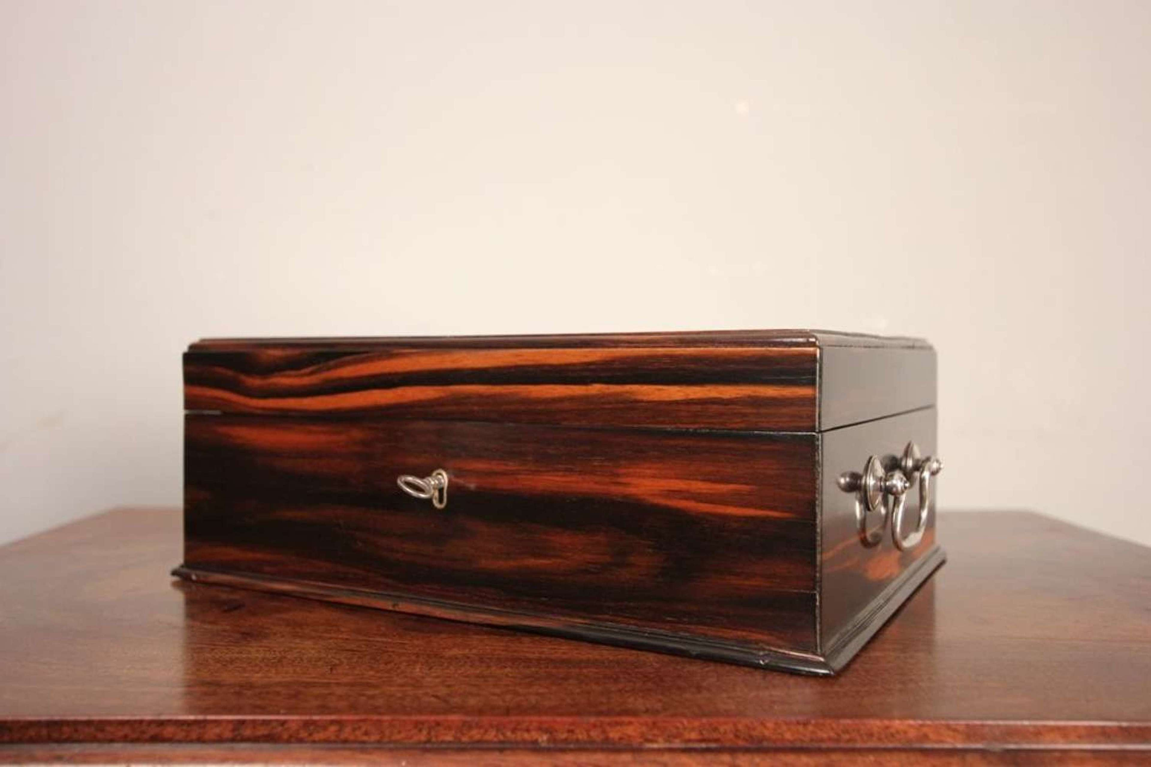 19th C Coromandal Wood Box