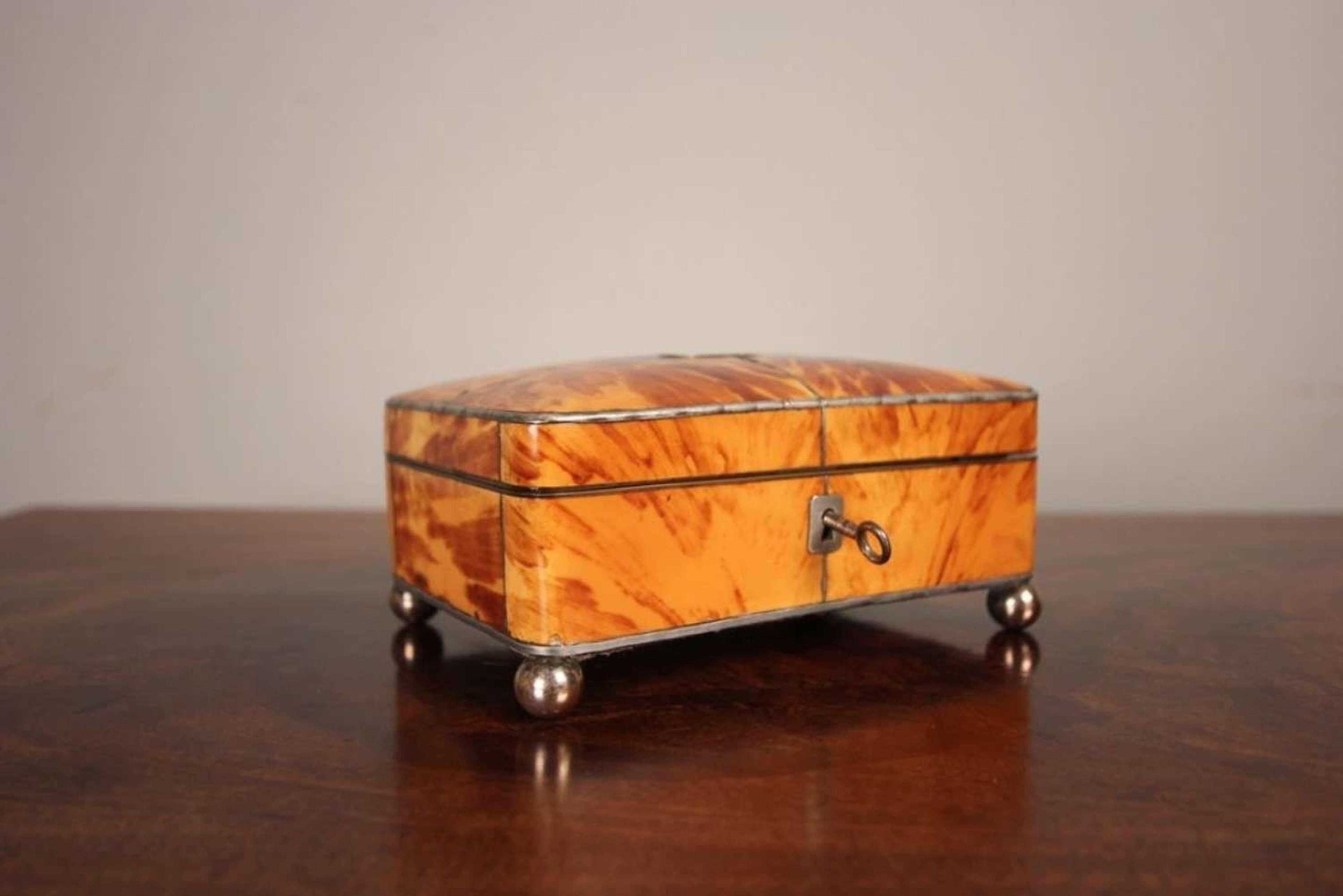 19th C Tortoiseshell Jewellery Box