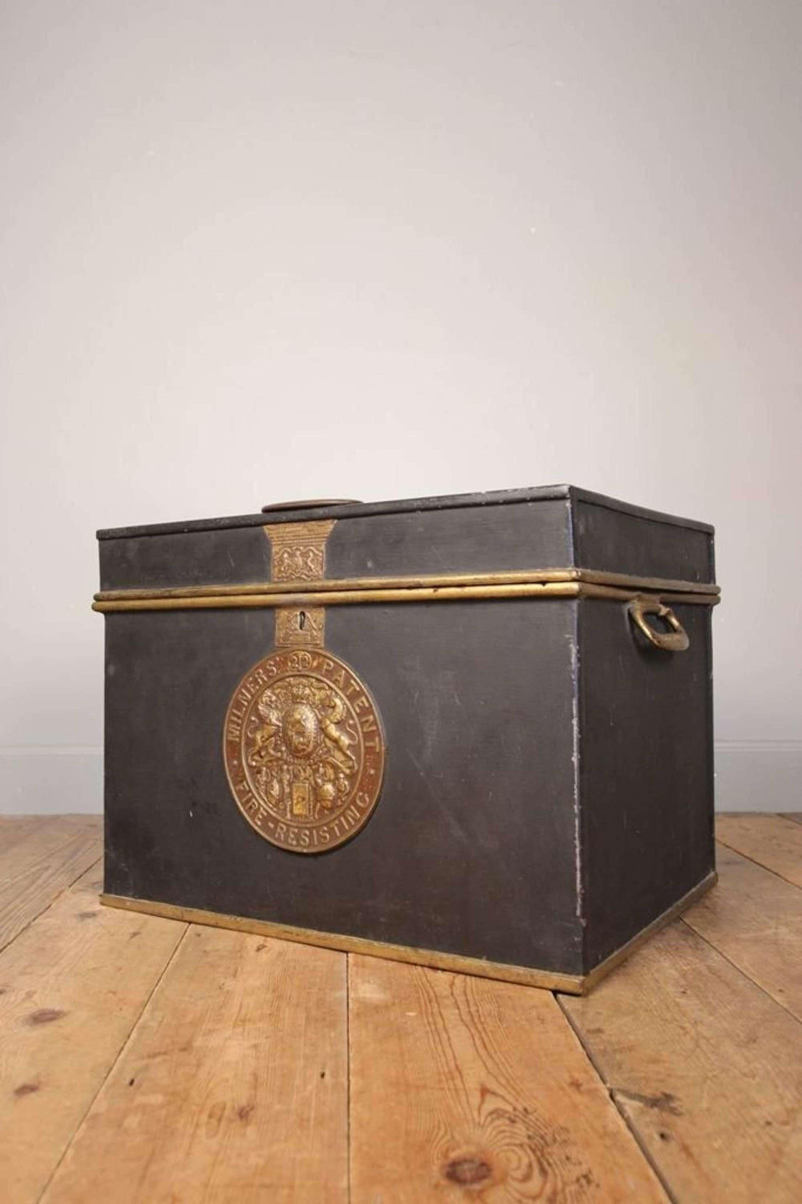19th Century Milners Cast Iron Box Safe