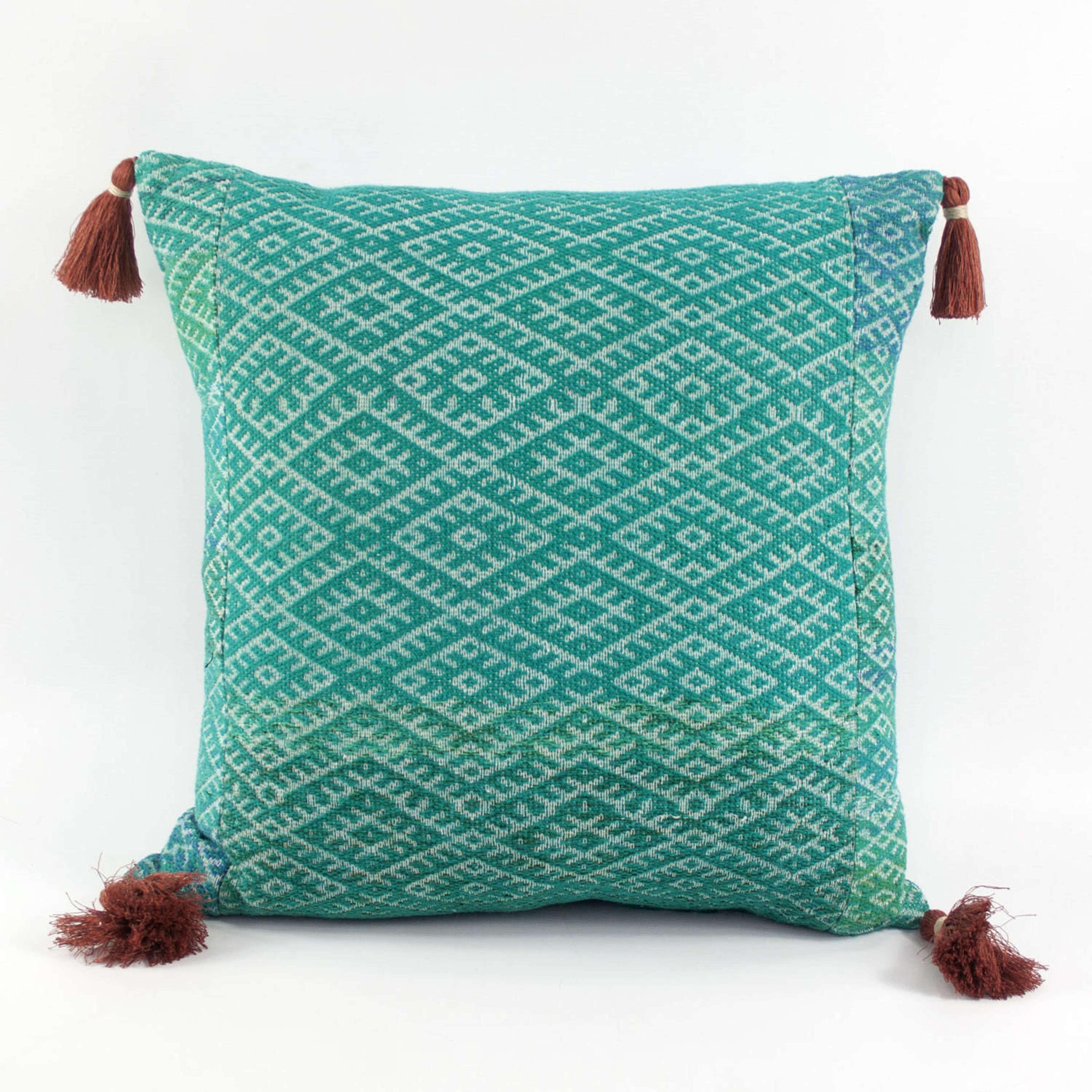 Turquoise Wedding Blanket Cushions