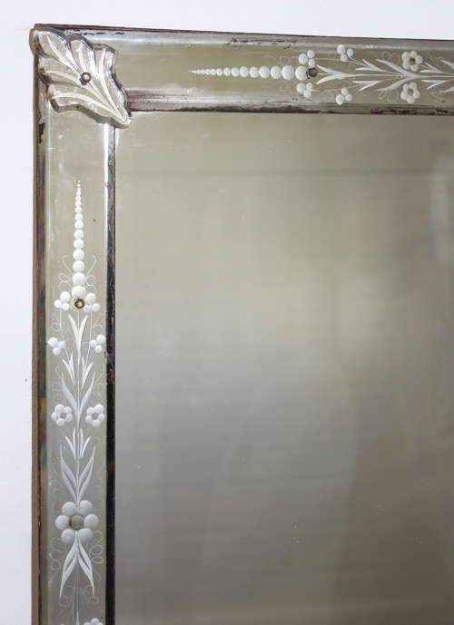 Large Near Square Venetian Mirror In, Long Narrow Venetian Mirror