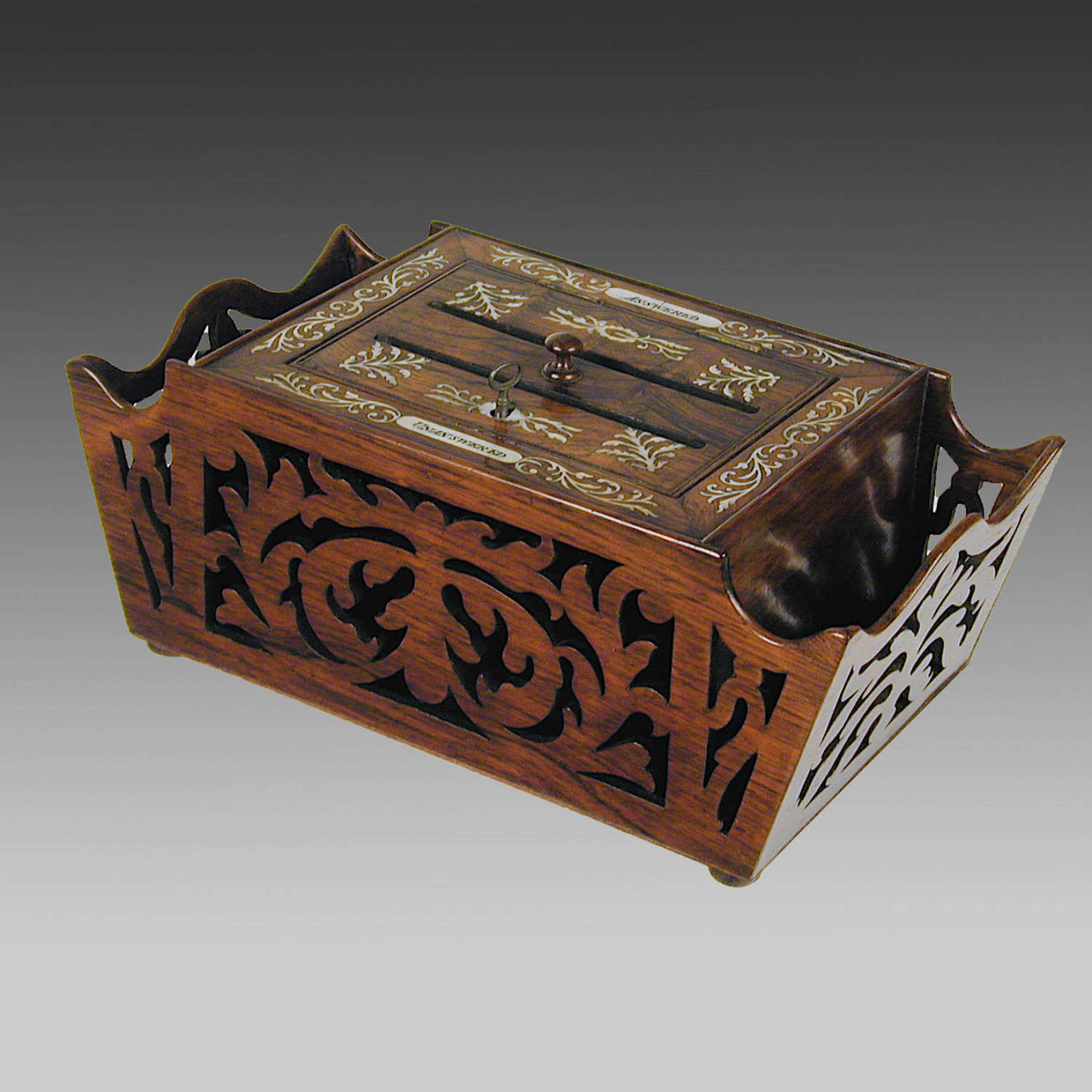 Regency rosewood letter box