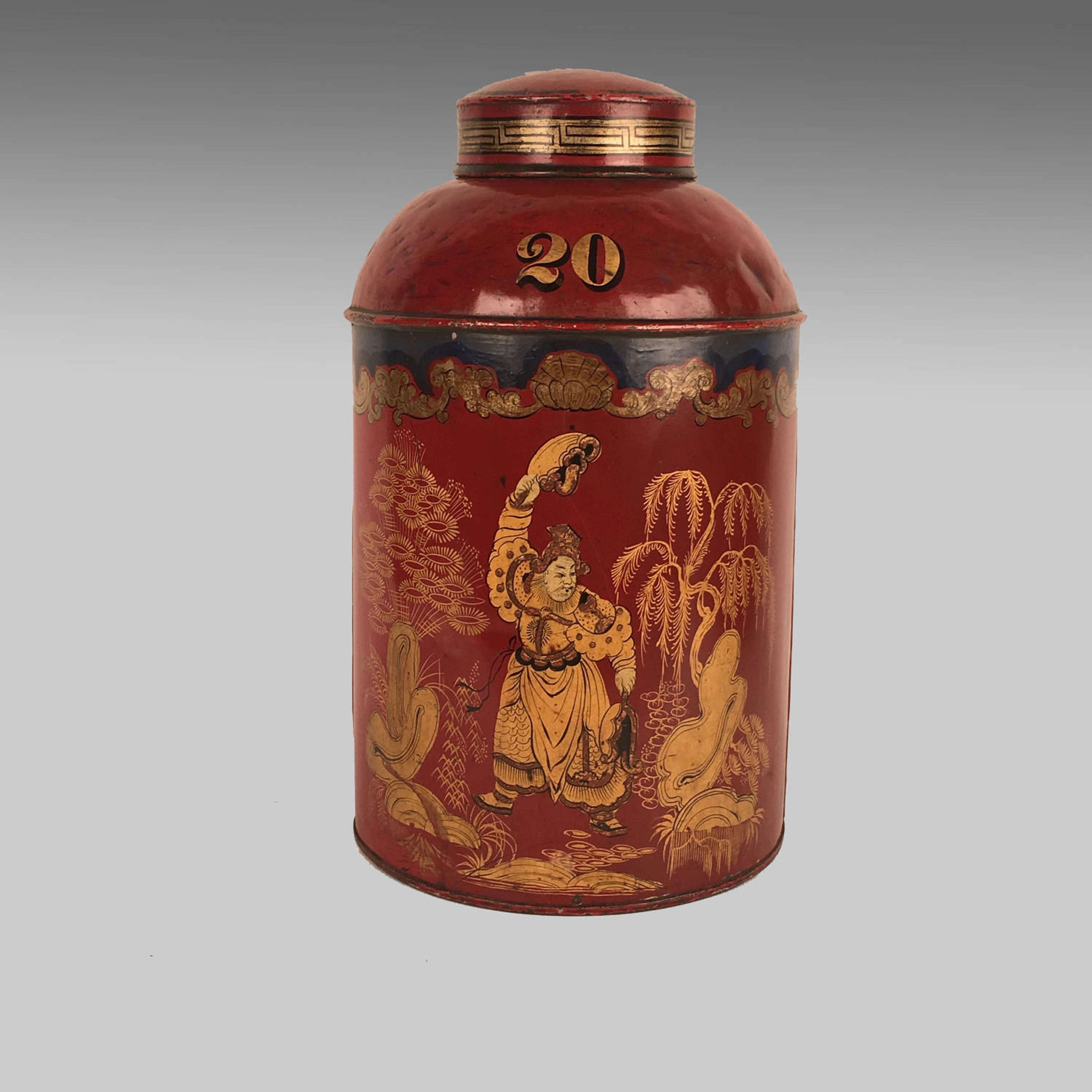 Antique 19th century tea canister