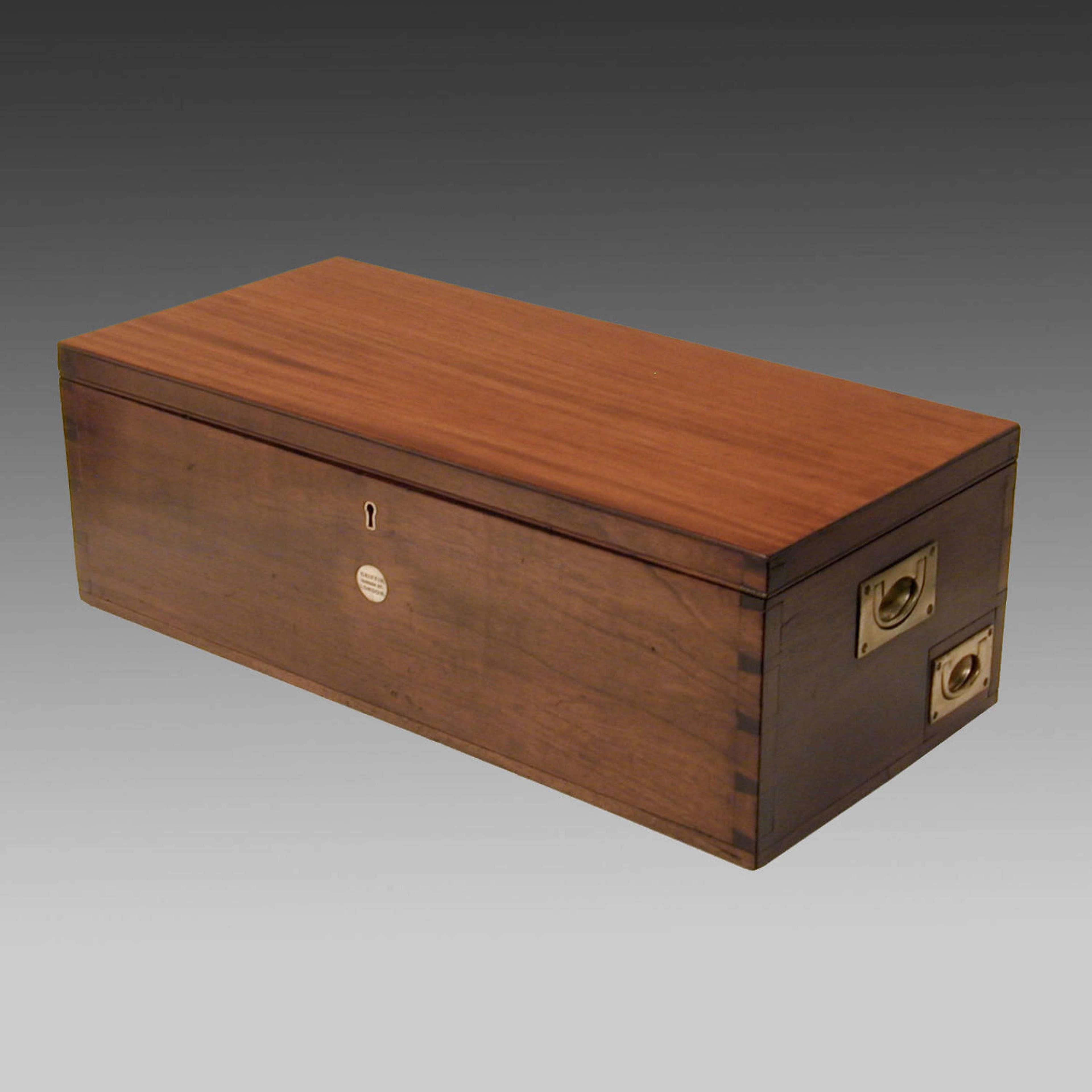 Edwardian mahogany instrument box