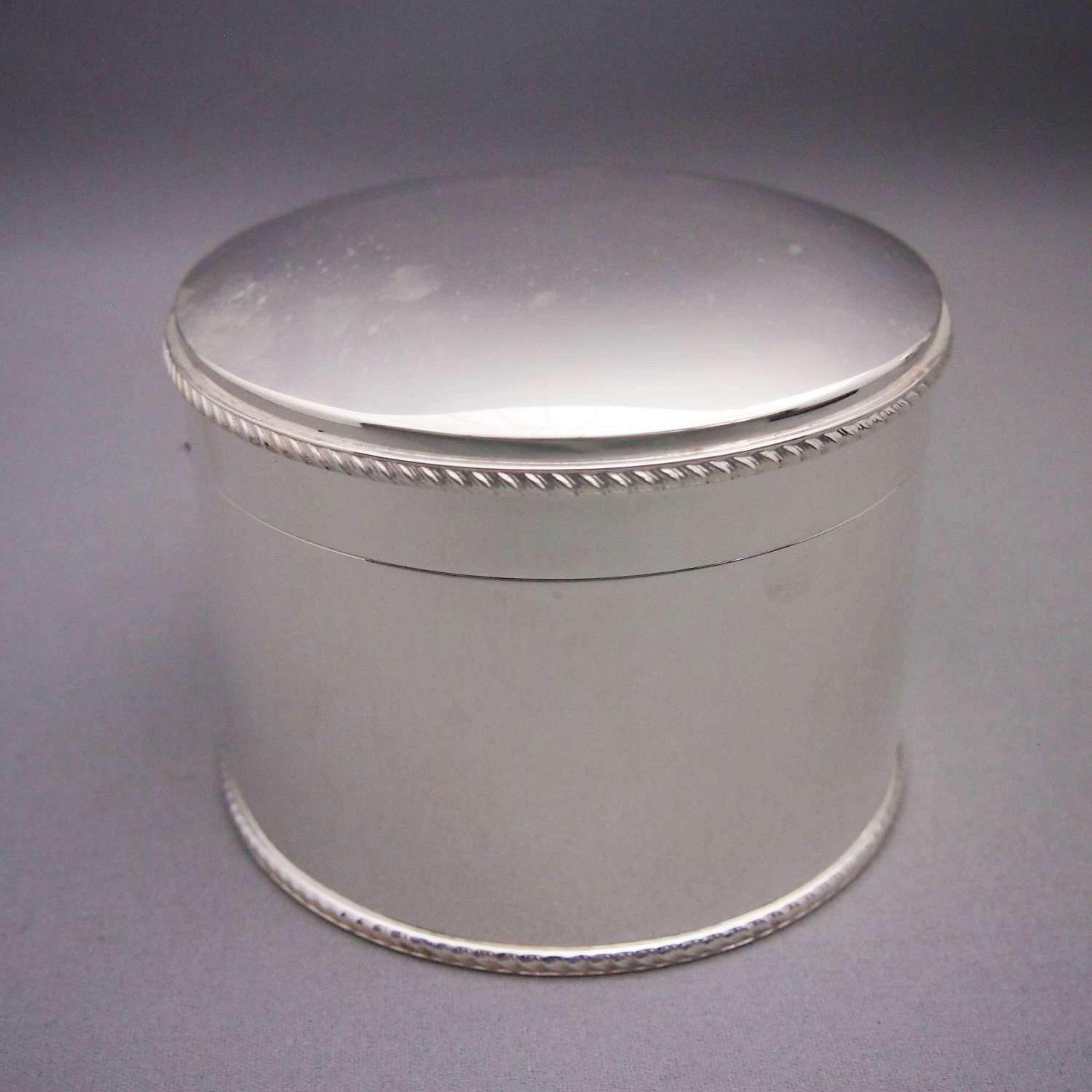 Silver Plated Antique Circular Box . W8487