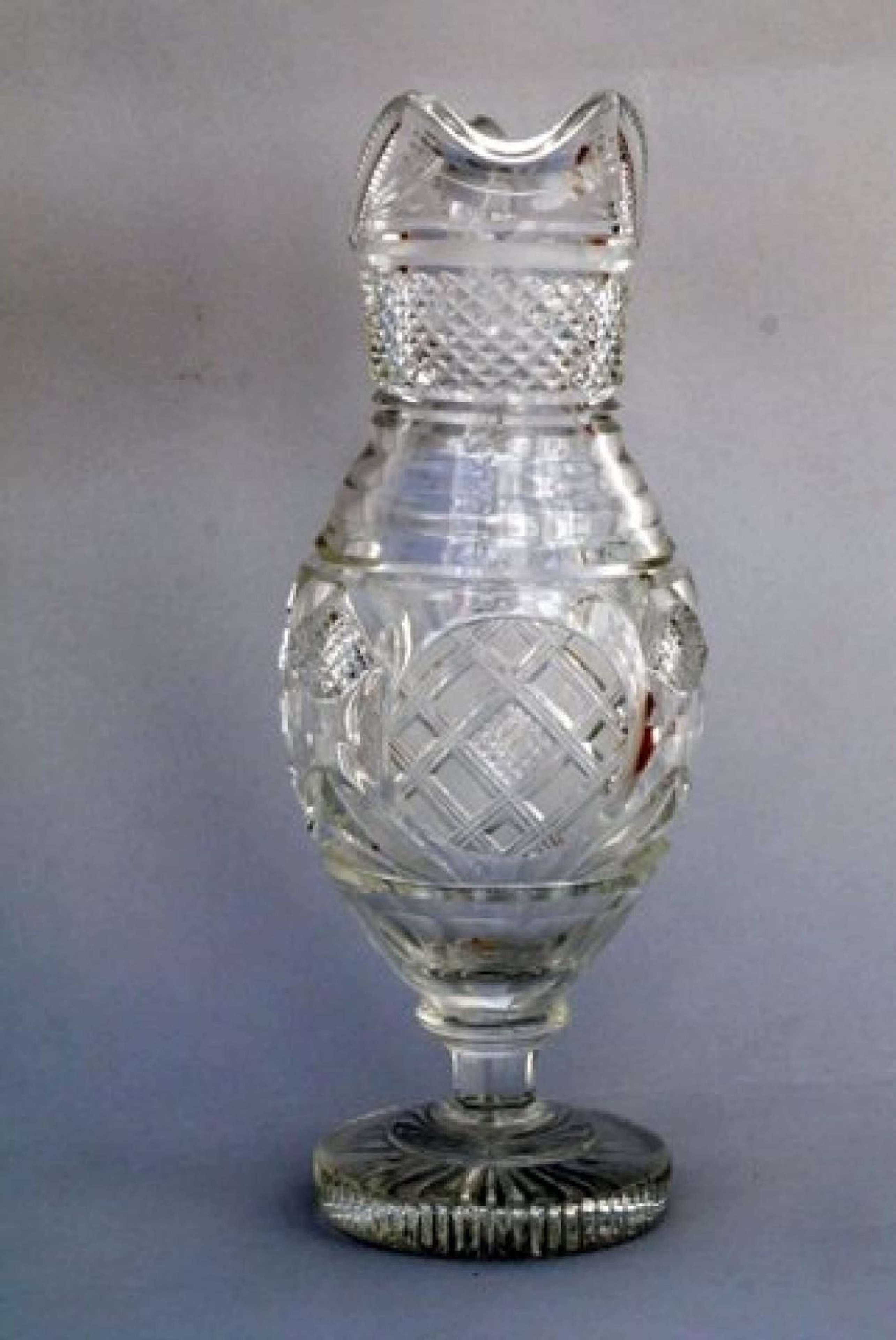 A Regency Revival Cut Glass Water Jug, circa 1920
