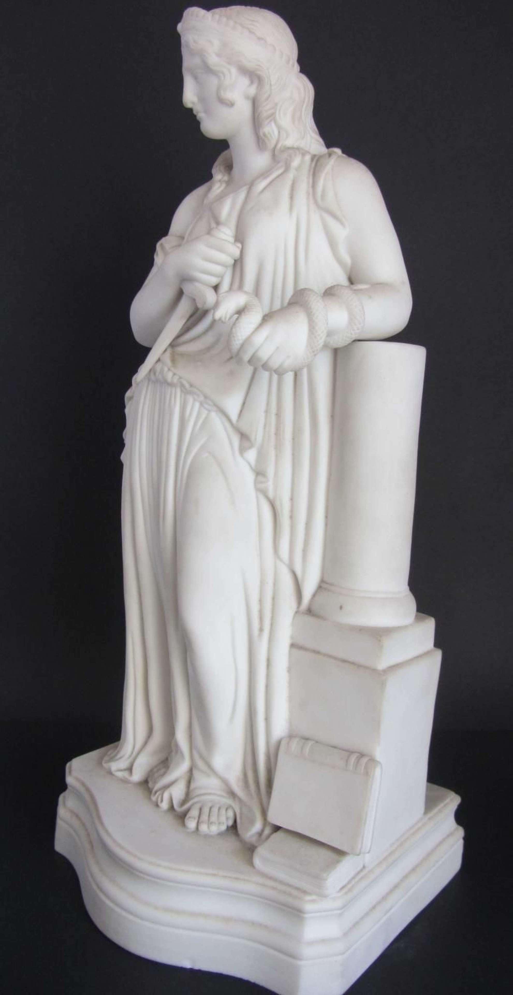 A Victorian Parian Figure of a Classical Maiden circa 1870