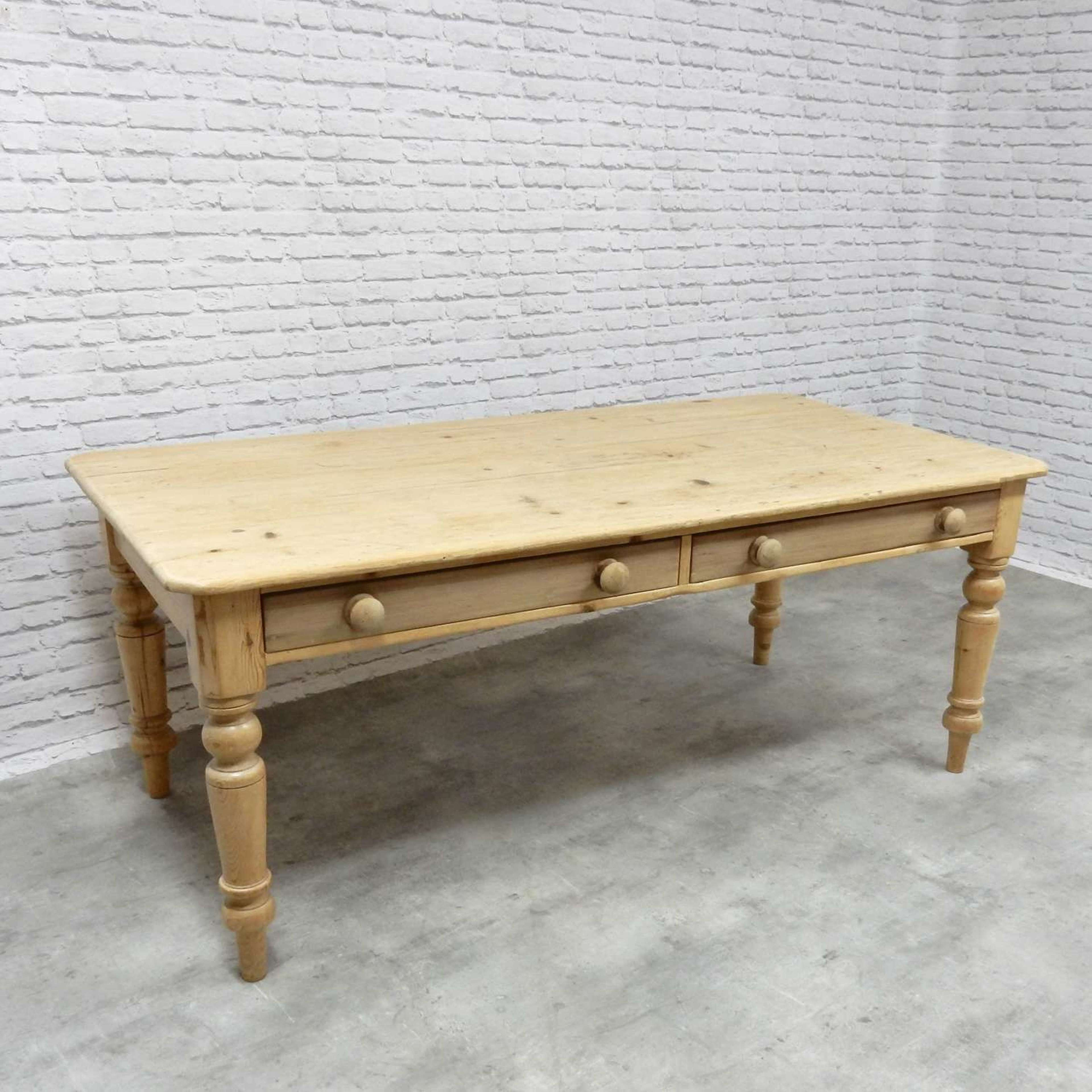 C19th Farmhouse Kitchen Table In Antique Tables
