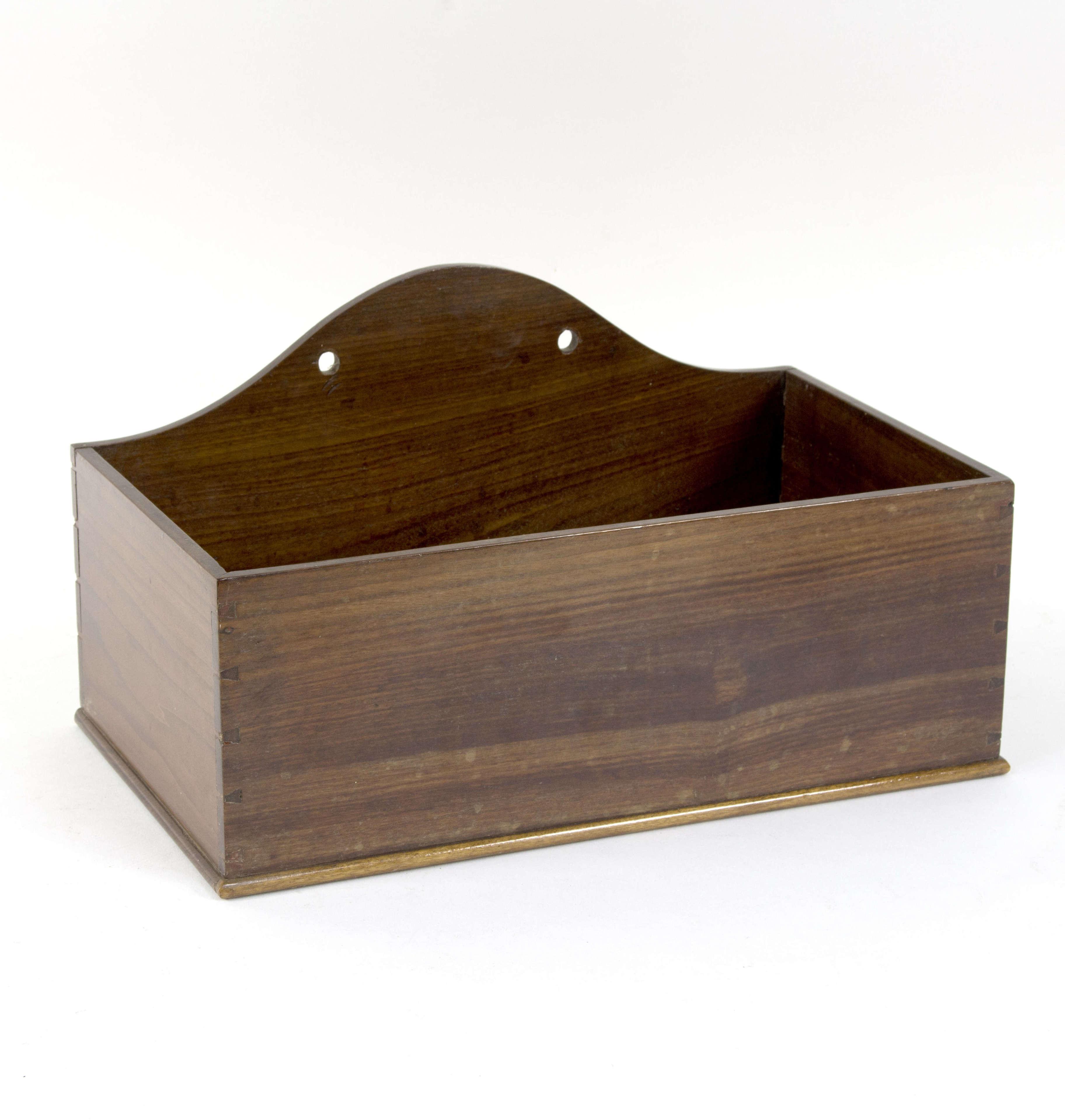 Large 19th Mahogany candle box