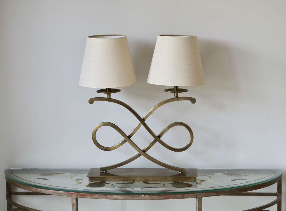 Specimen Table Lamp in Antique Table Lamps