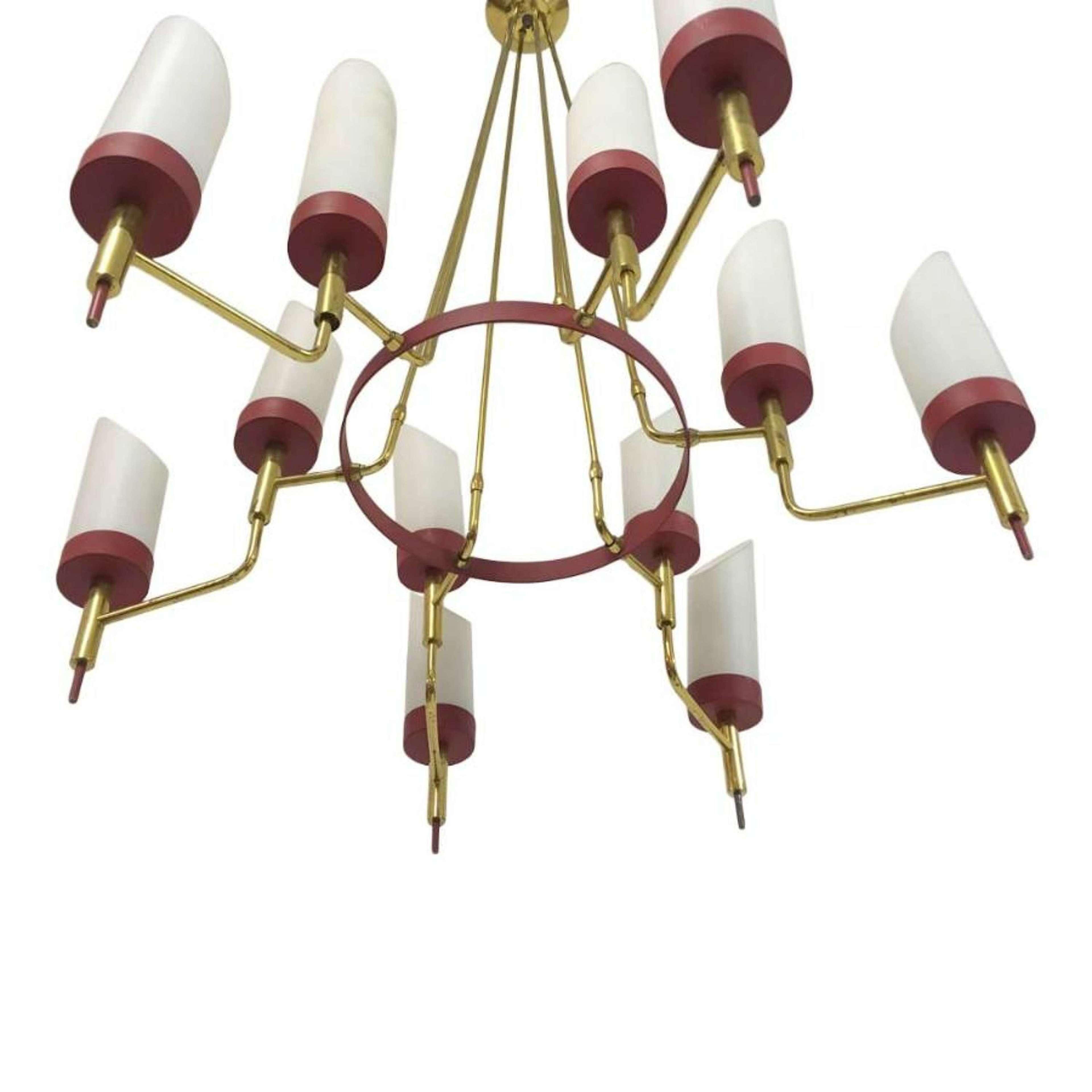 White Antique Metal with Glass Chandelier