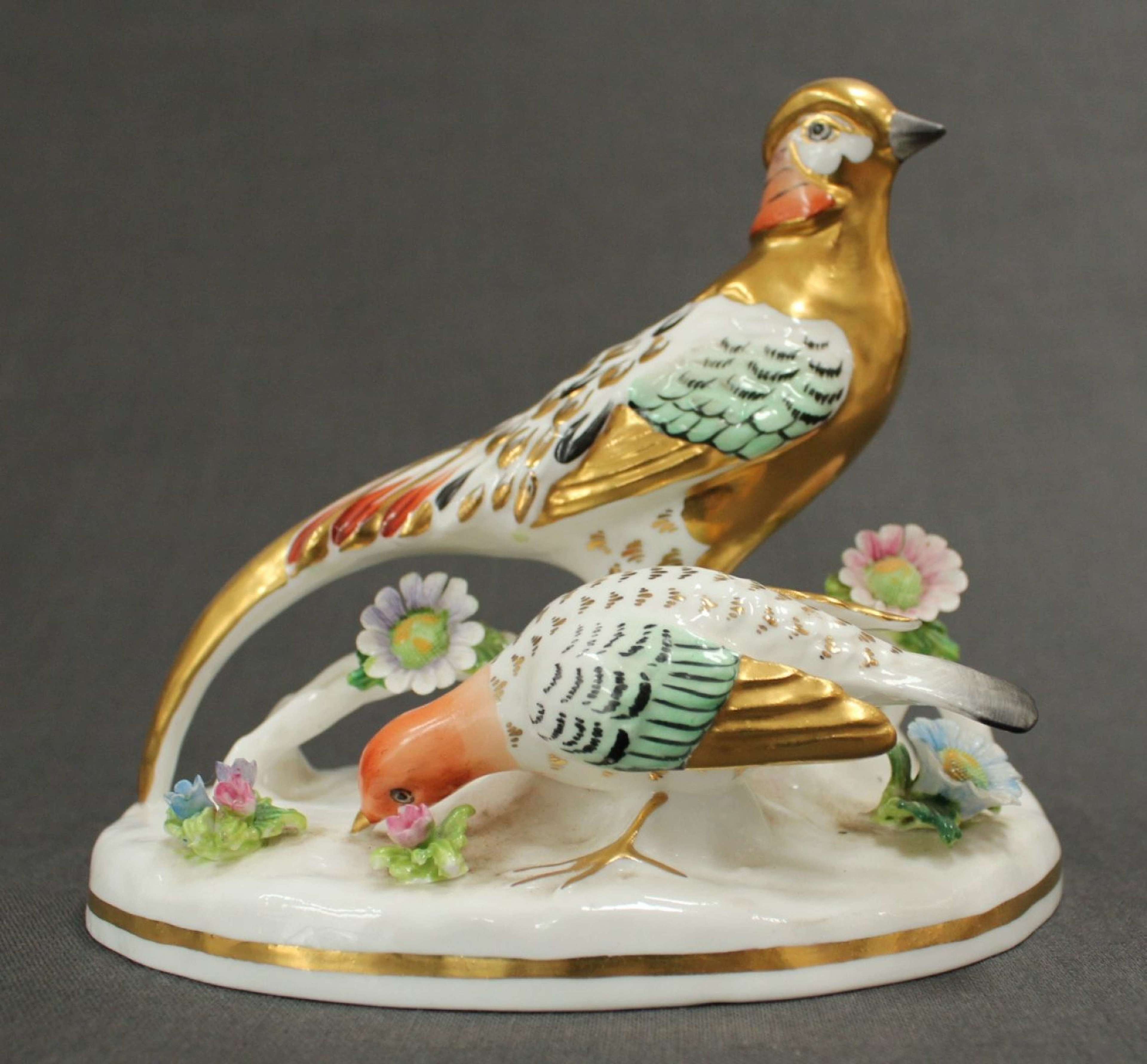 A Crown Staffs. figure of a Chinese pheasant