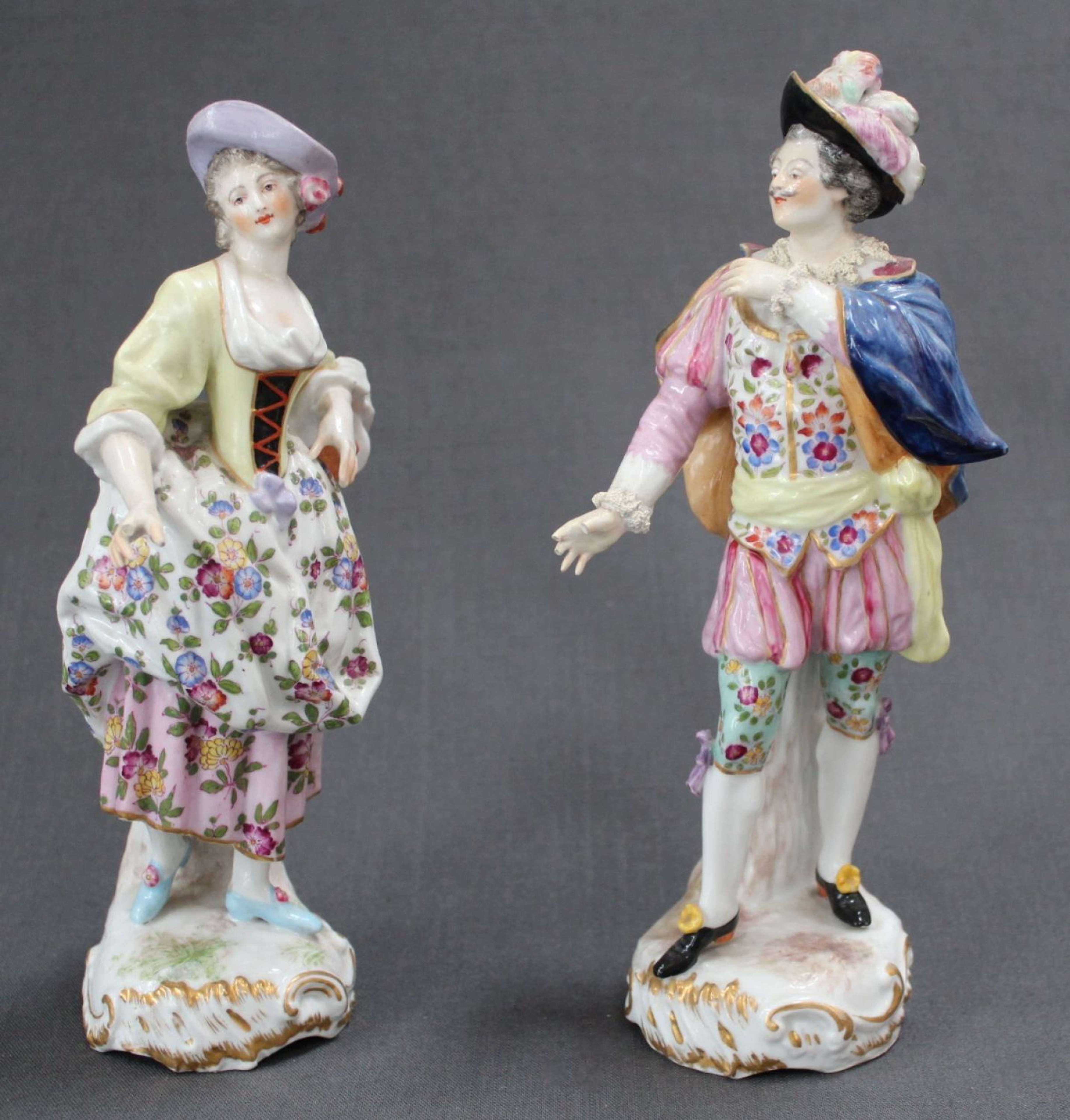 A pair of 19th Century German figures