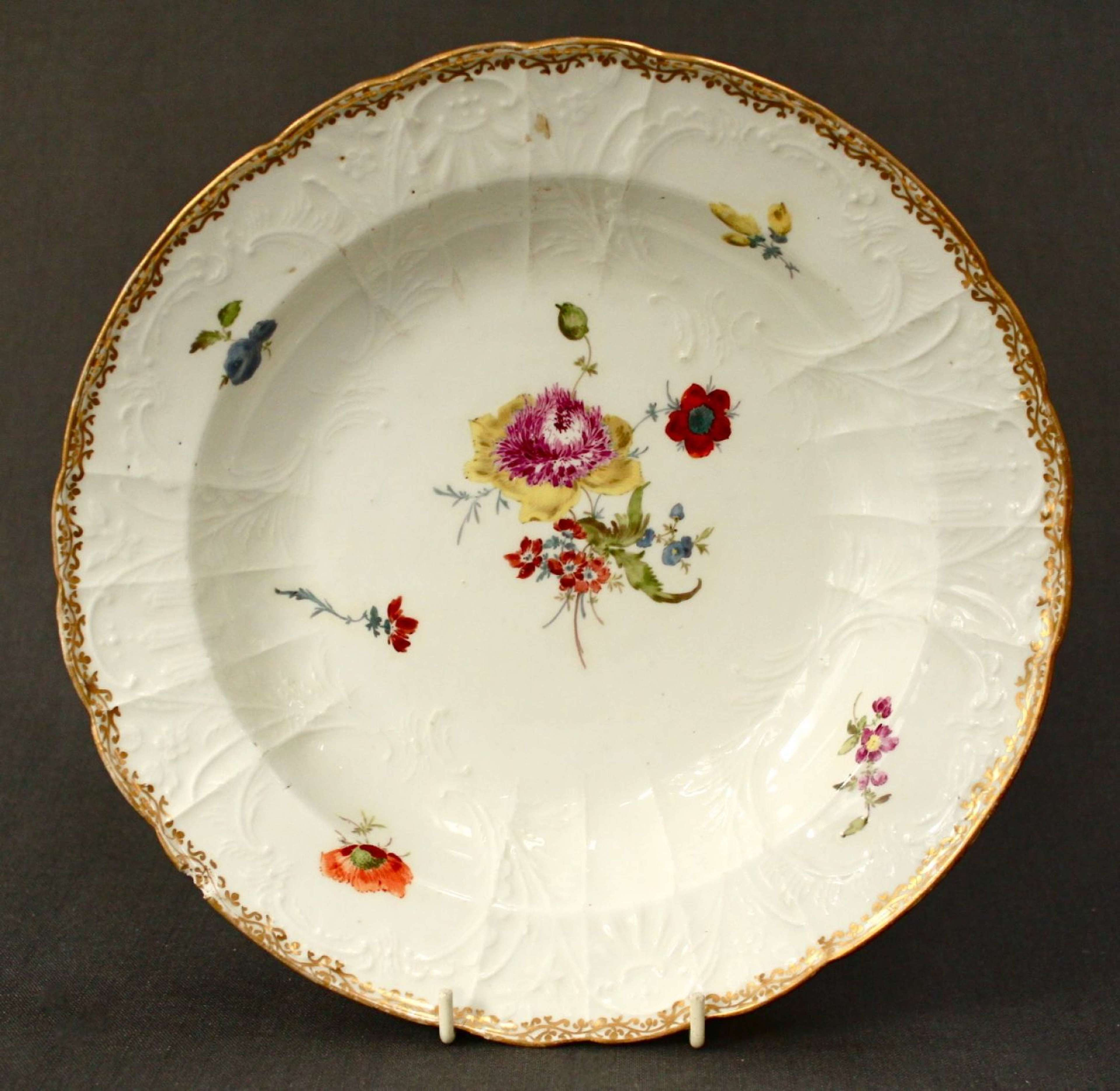 An 18th Century Meissen soup plate
