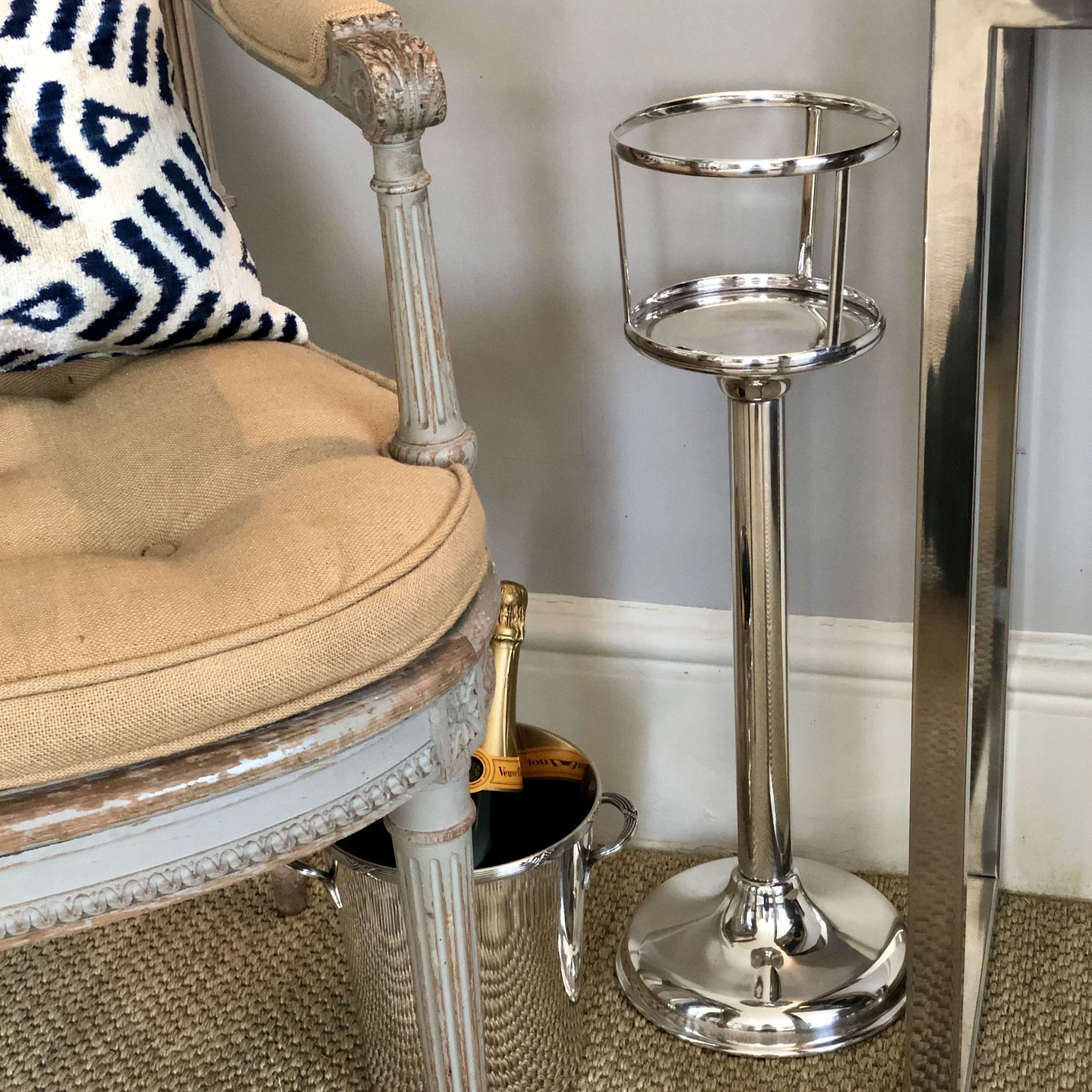 Good Quality English Art Deco Ice Bucket Stand In Antique Champagne Buckets Wine Coolers
