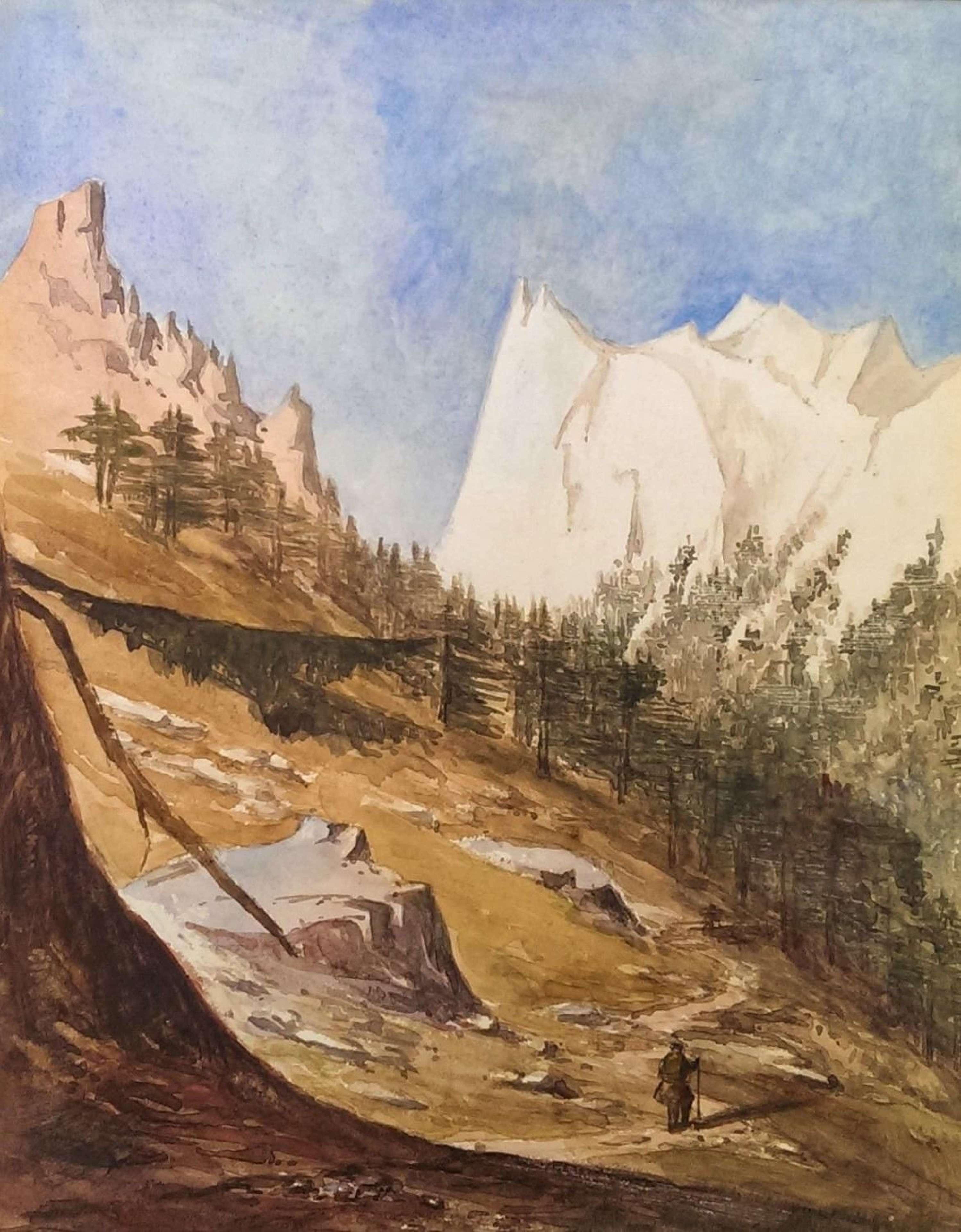 View of Gungootrie [Gangotri] Peak, Indian Himalayas, 1852