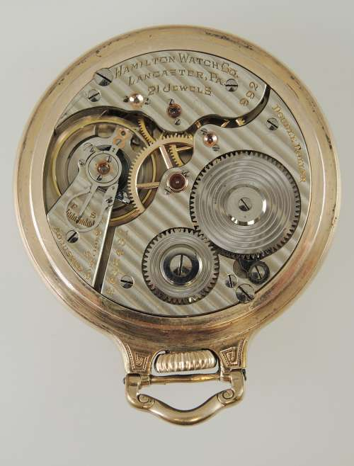 16 size 21 Jewel Hamilton 992 Railroad Pocket watch c1929 in