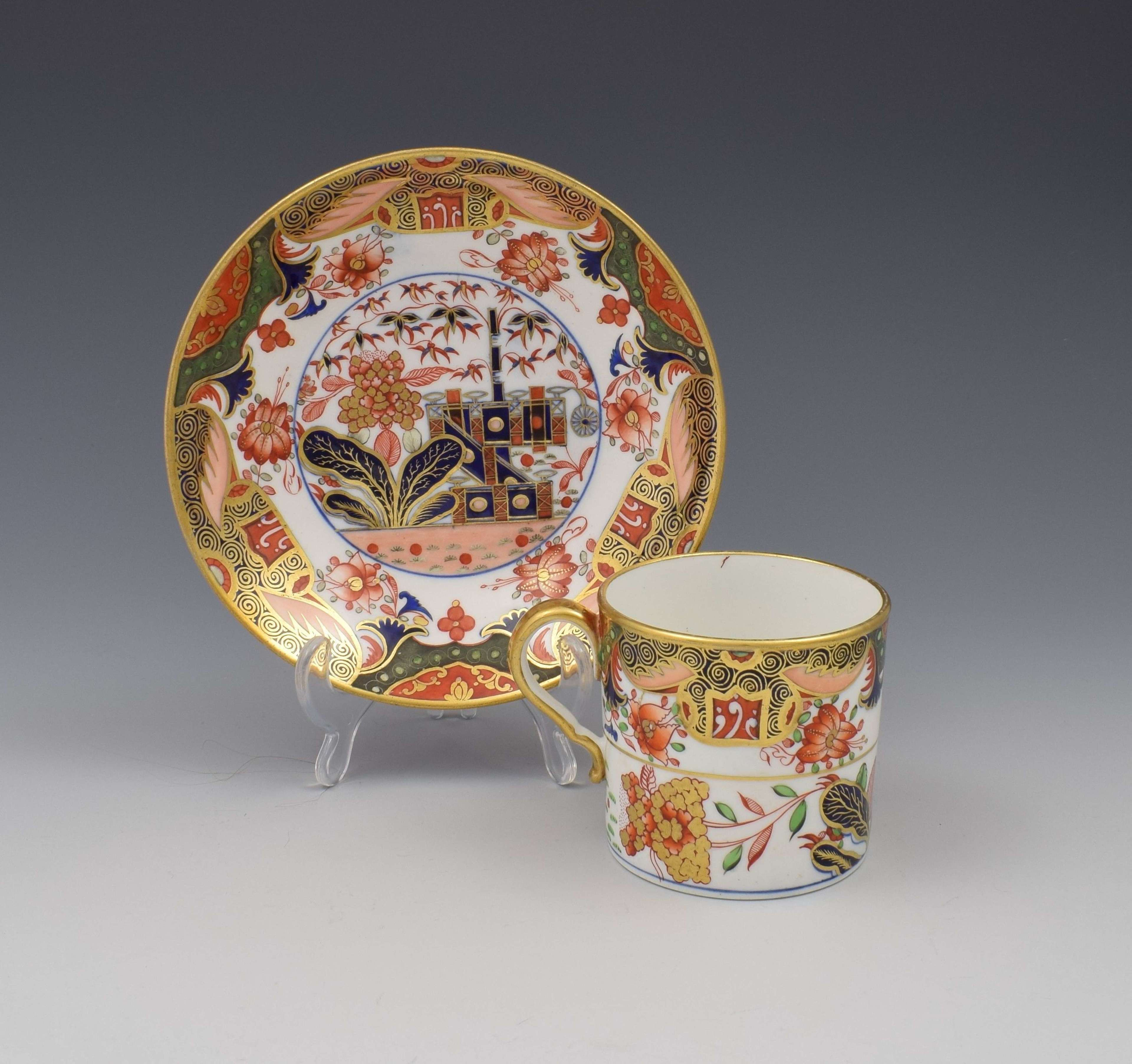 Spode Porcelain Imari Coffee can & Saucer Pattern 967 c.1810