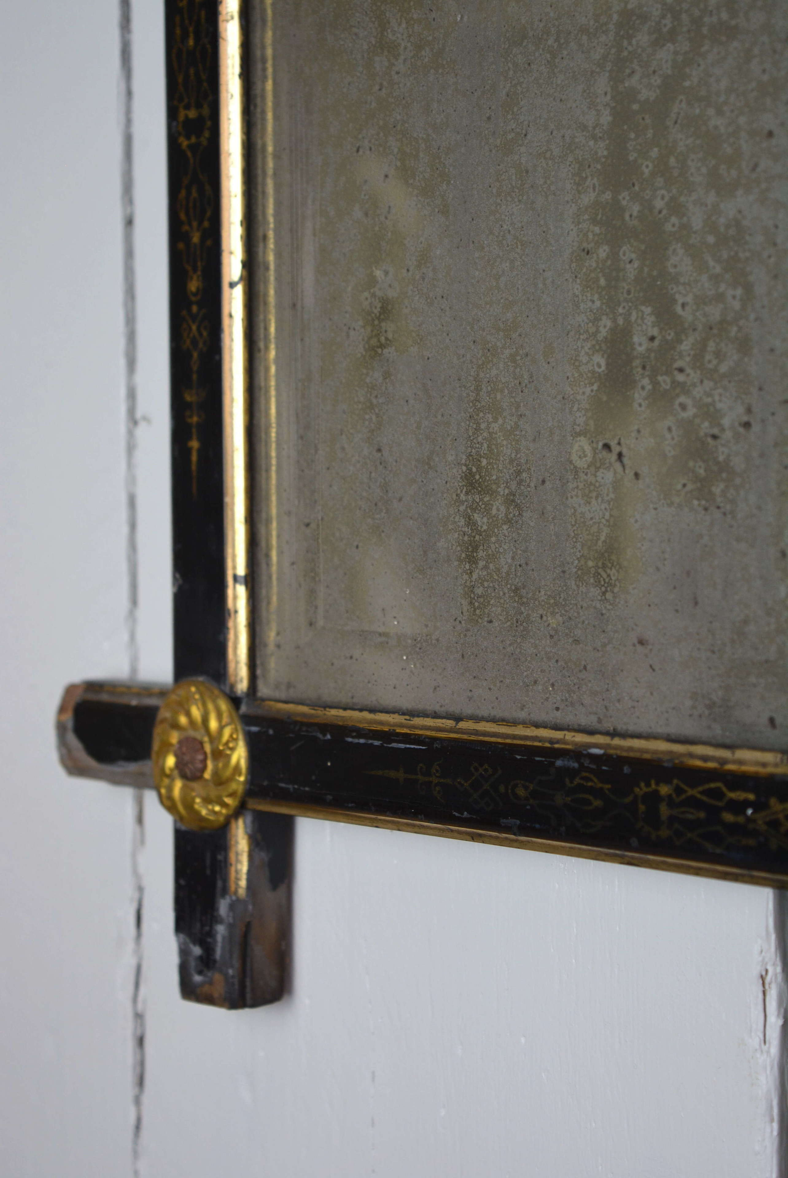 REGENCY MIRROR WITH ORIGINAL FOXED PLATE