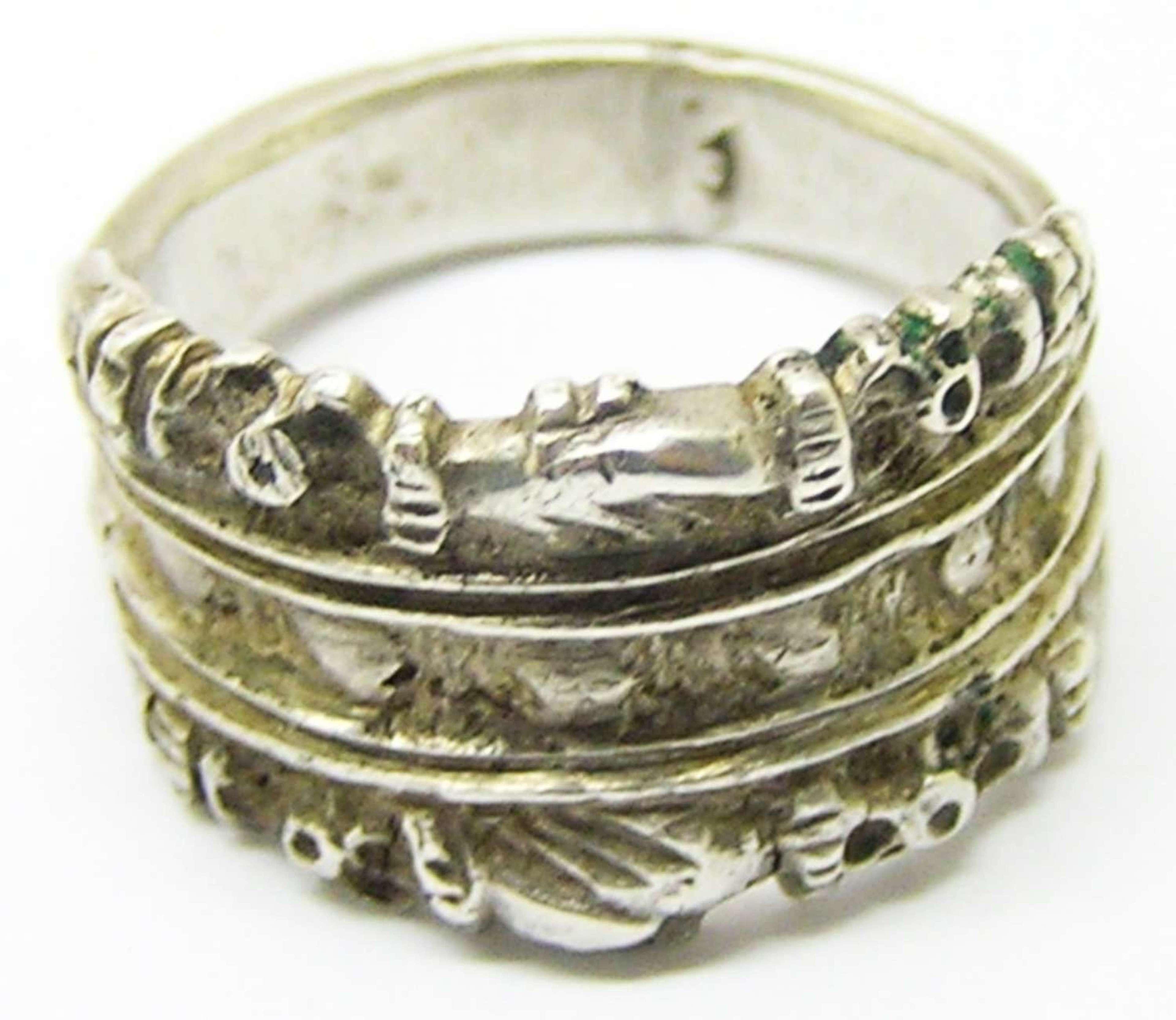 Renaissance silver betrothal/wedding ring