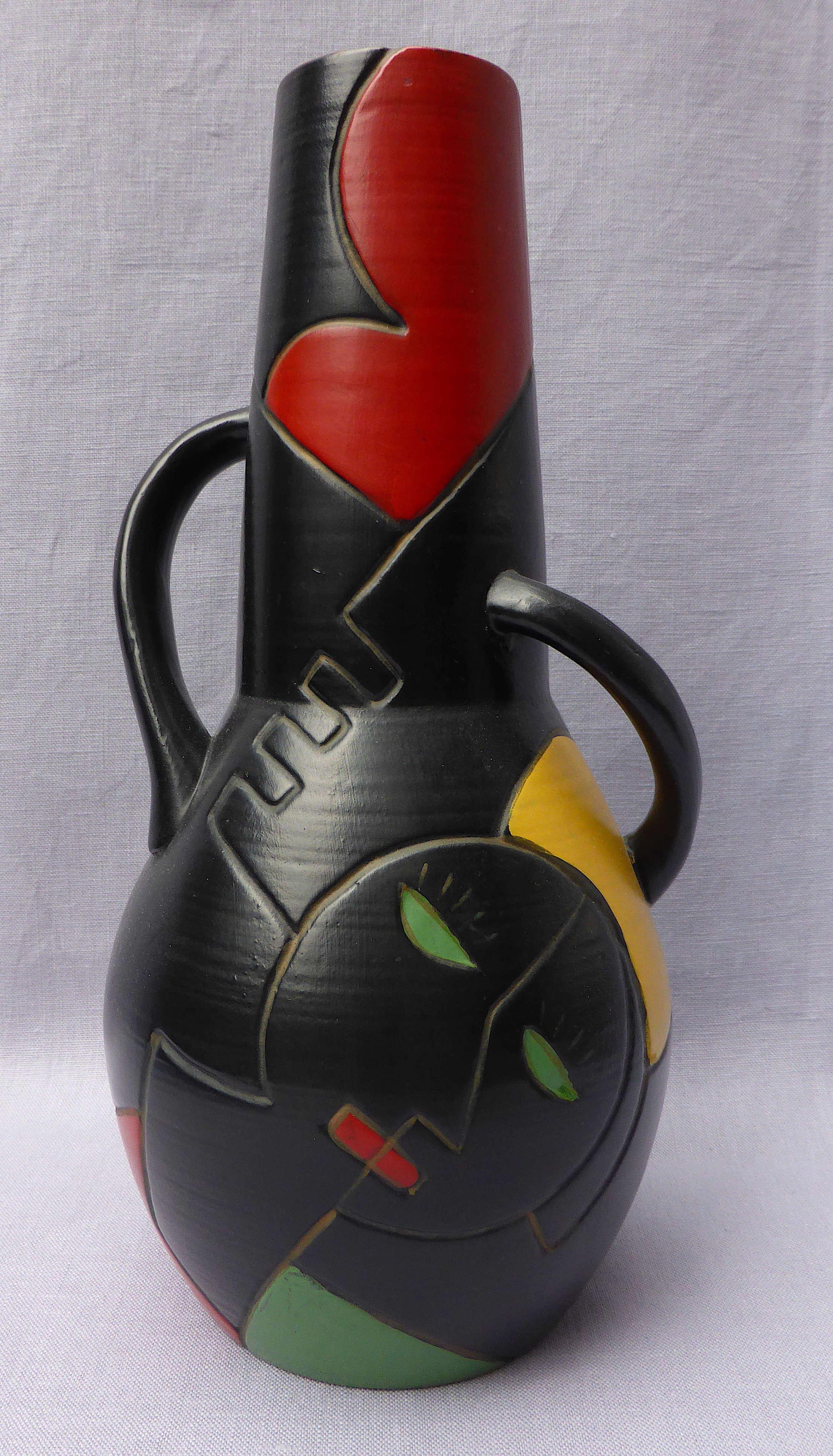 1930s Art Deco Cubist Brentleigh Ware Cuba vase