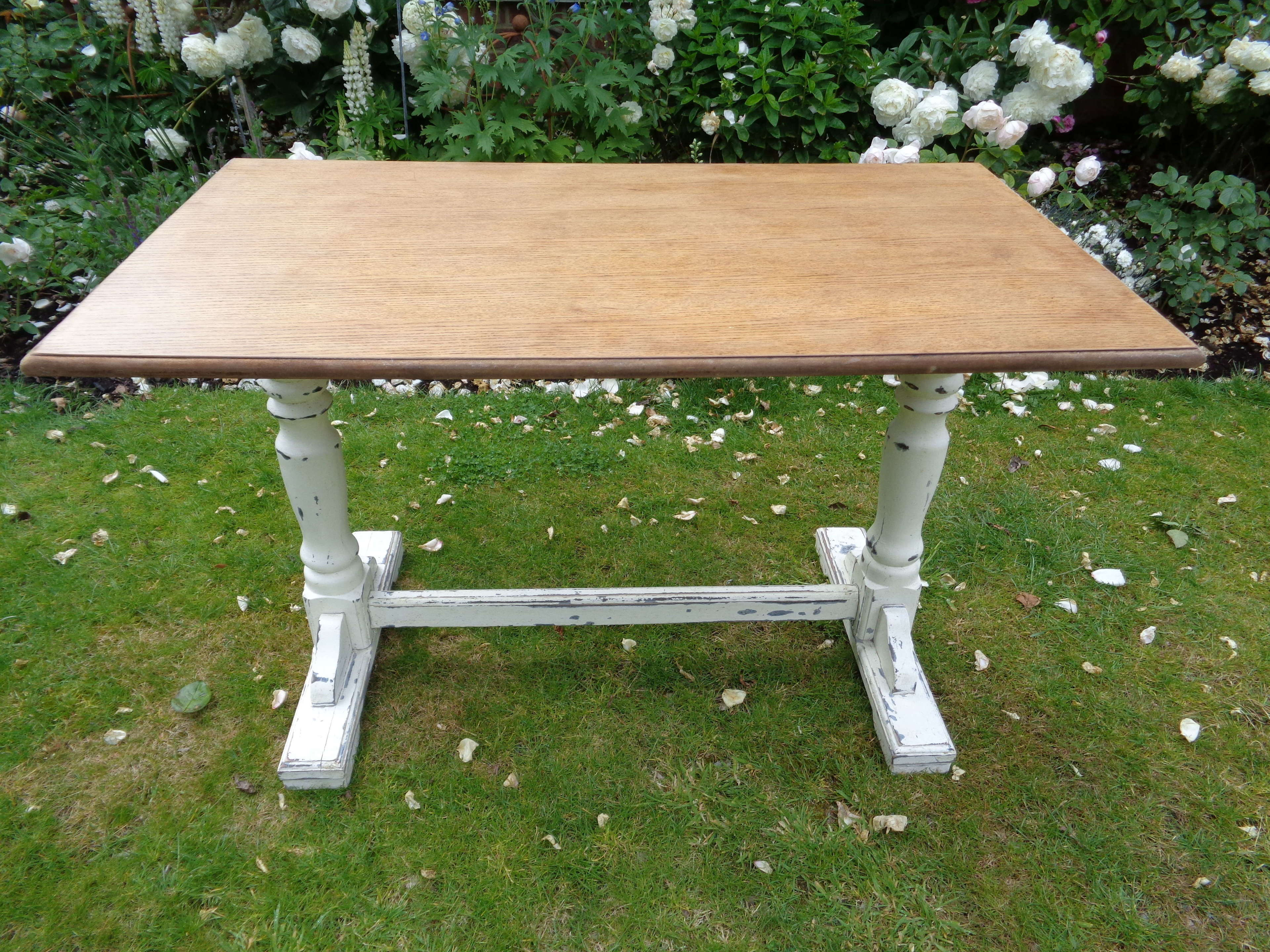 Vintage Kitchen Table In Antique Tables
