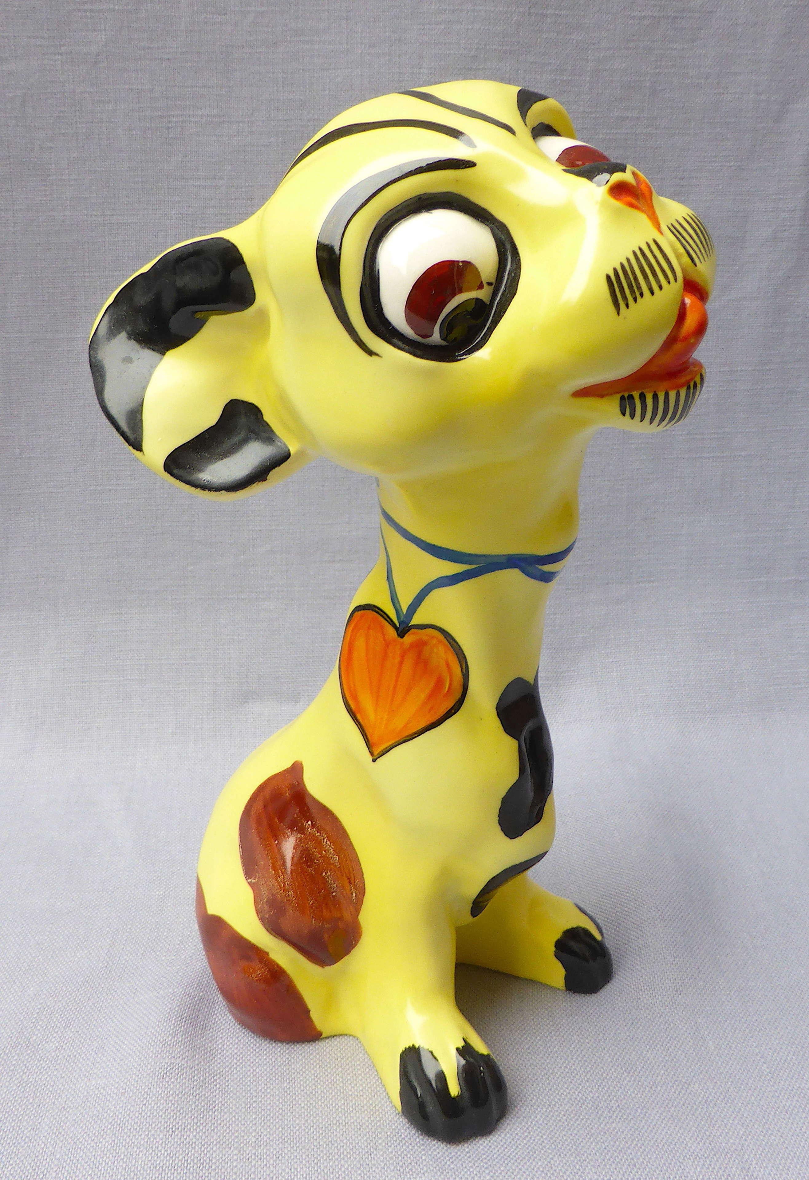Rare 1930s Art Deco Ditmar Urbach dog figure