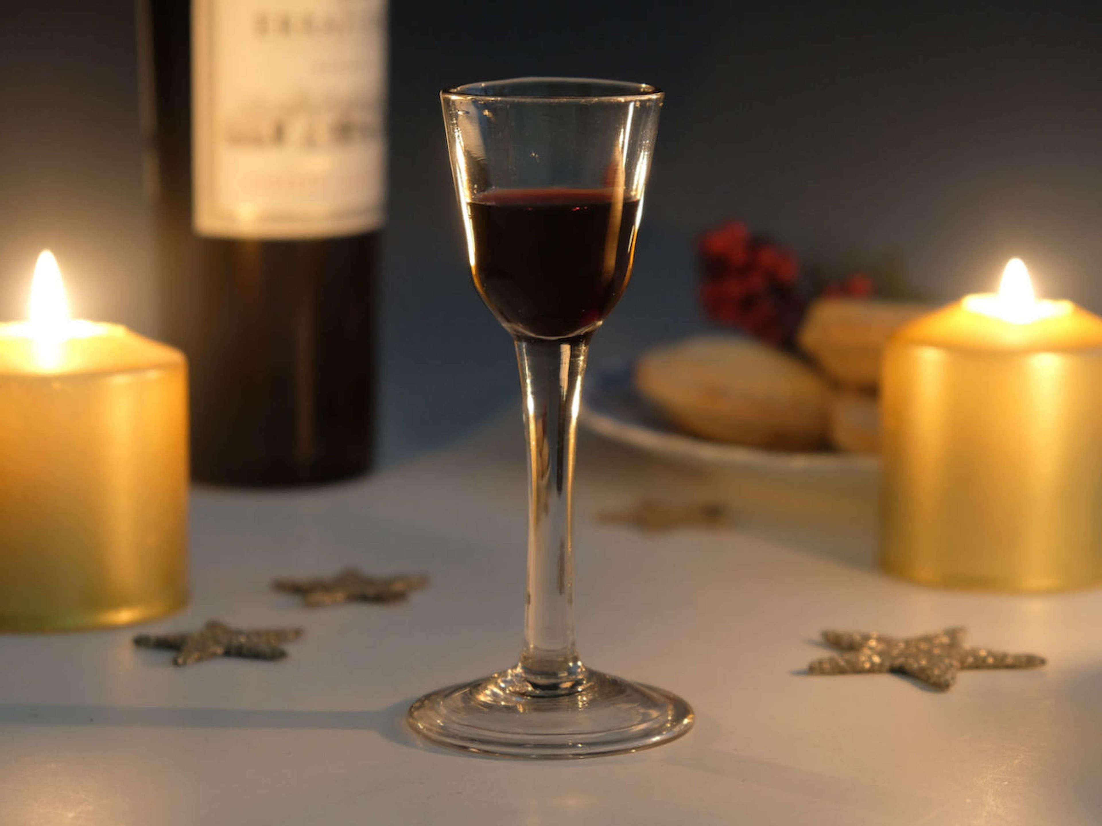 Plain stem wine glass English C1760