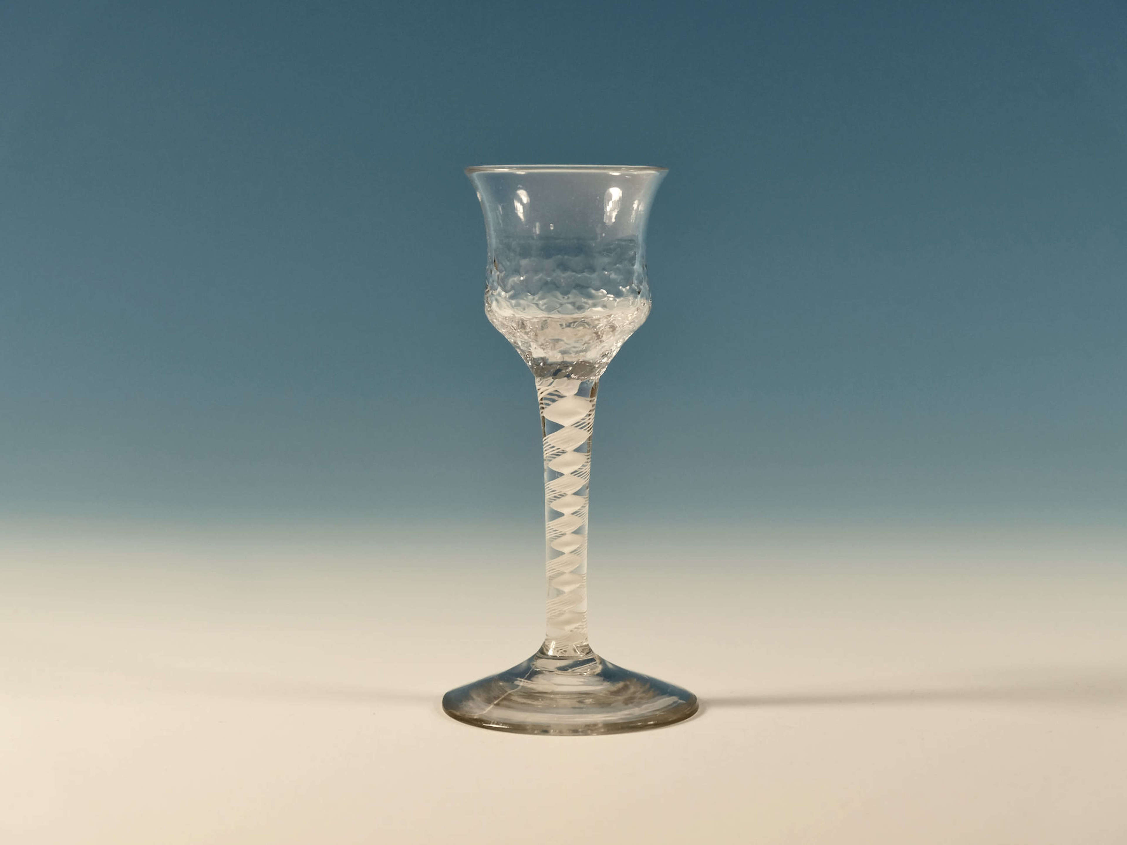 Double series opaque twist wine glass English C1765