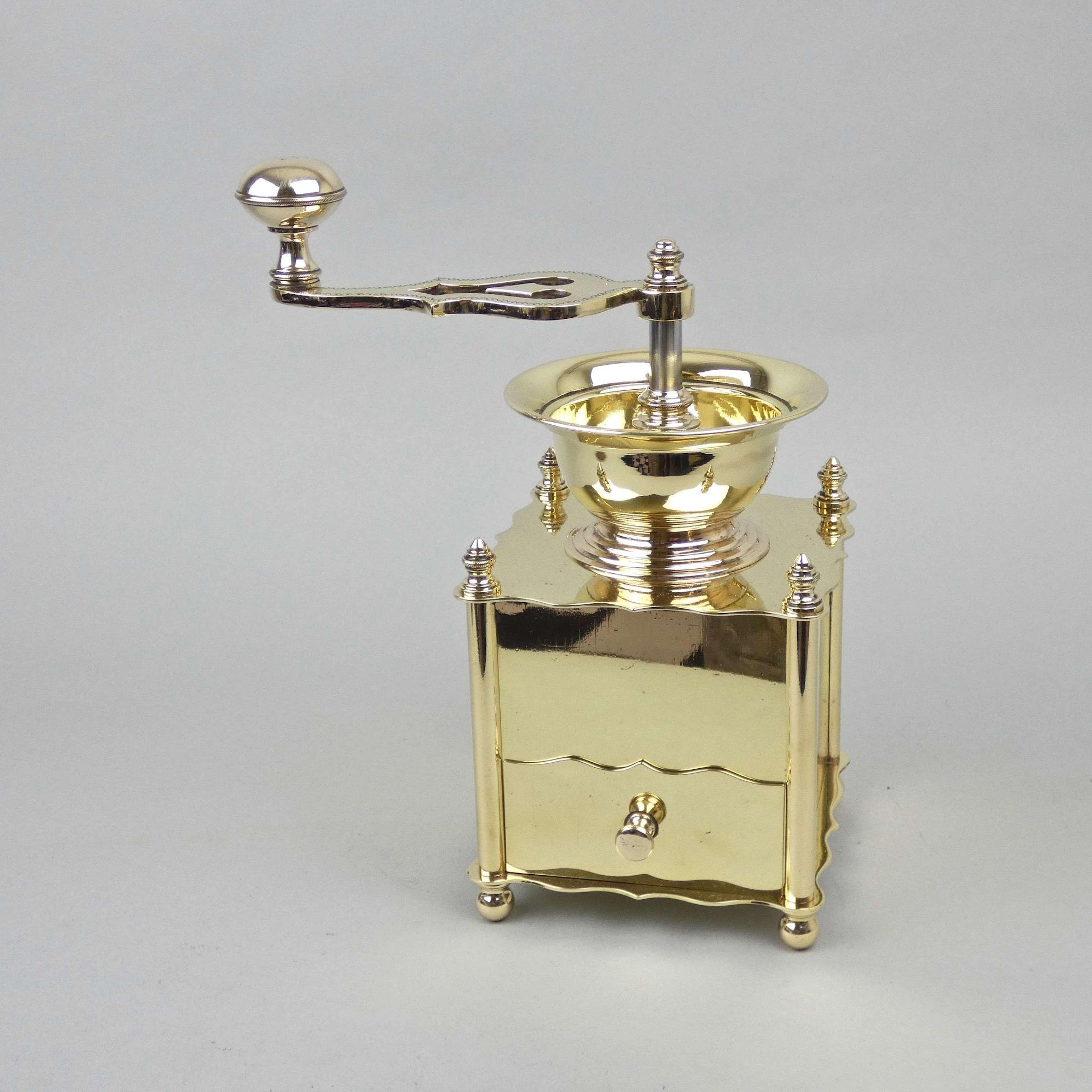 Brass coffee or pepper mill