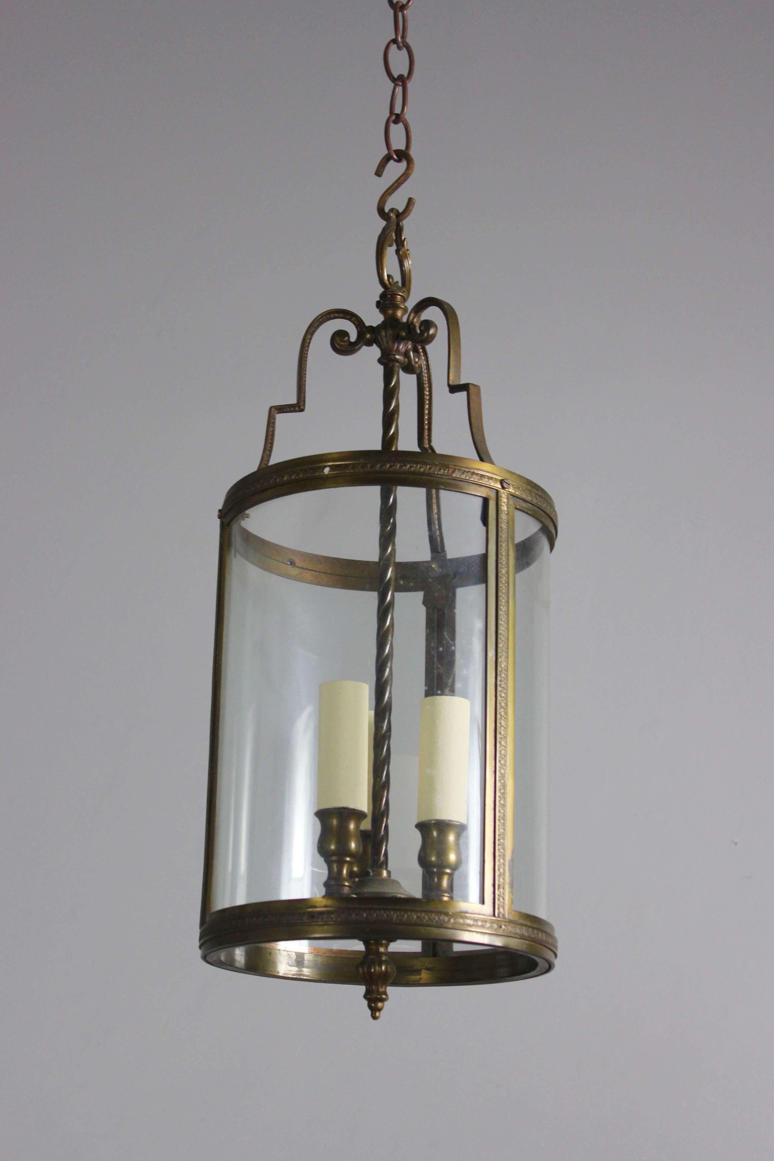 Smaller circular glass lobby lantern