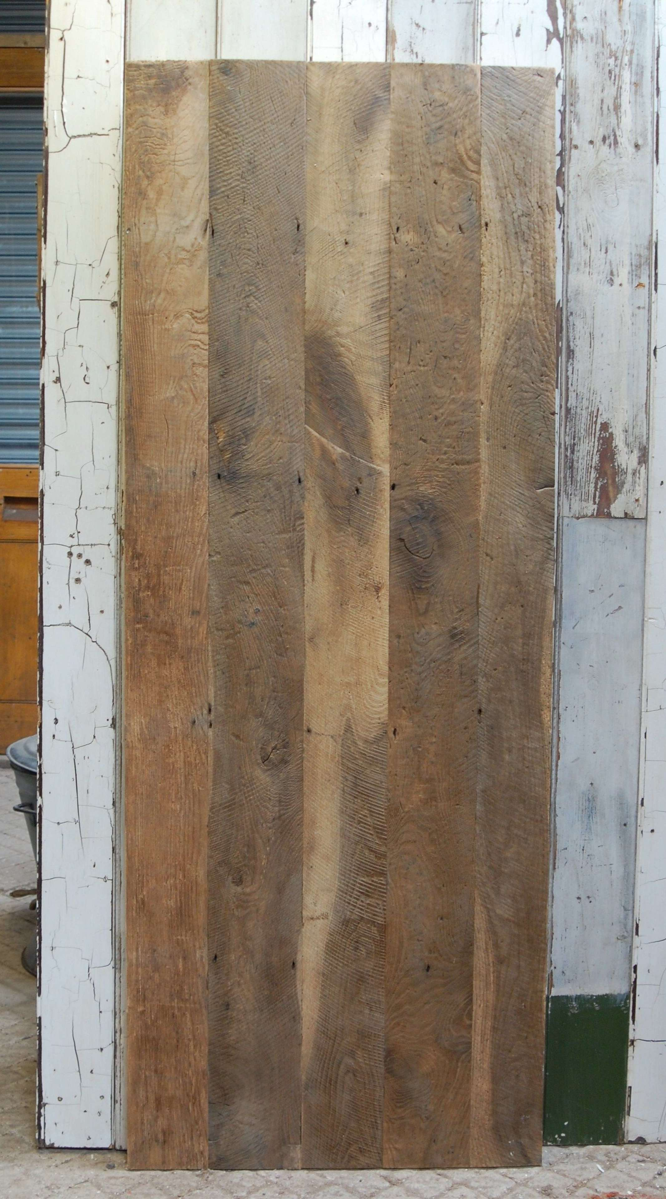 DI0713 OAK PLANK DOOR MADE USING OLD RECLAIMED FLOORBOARDS