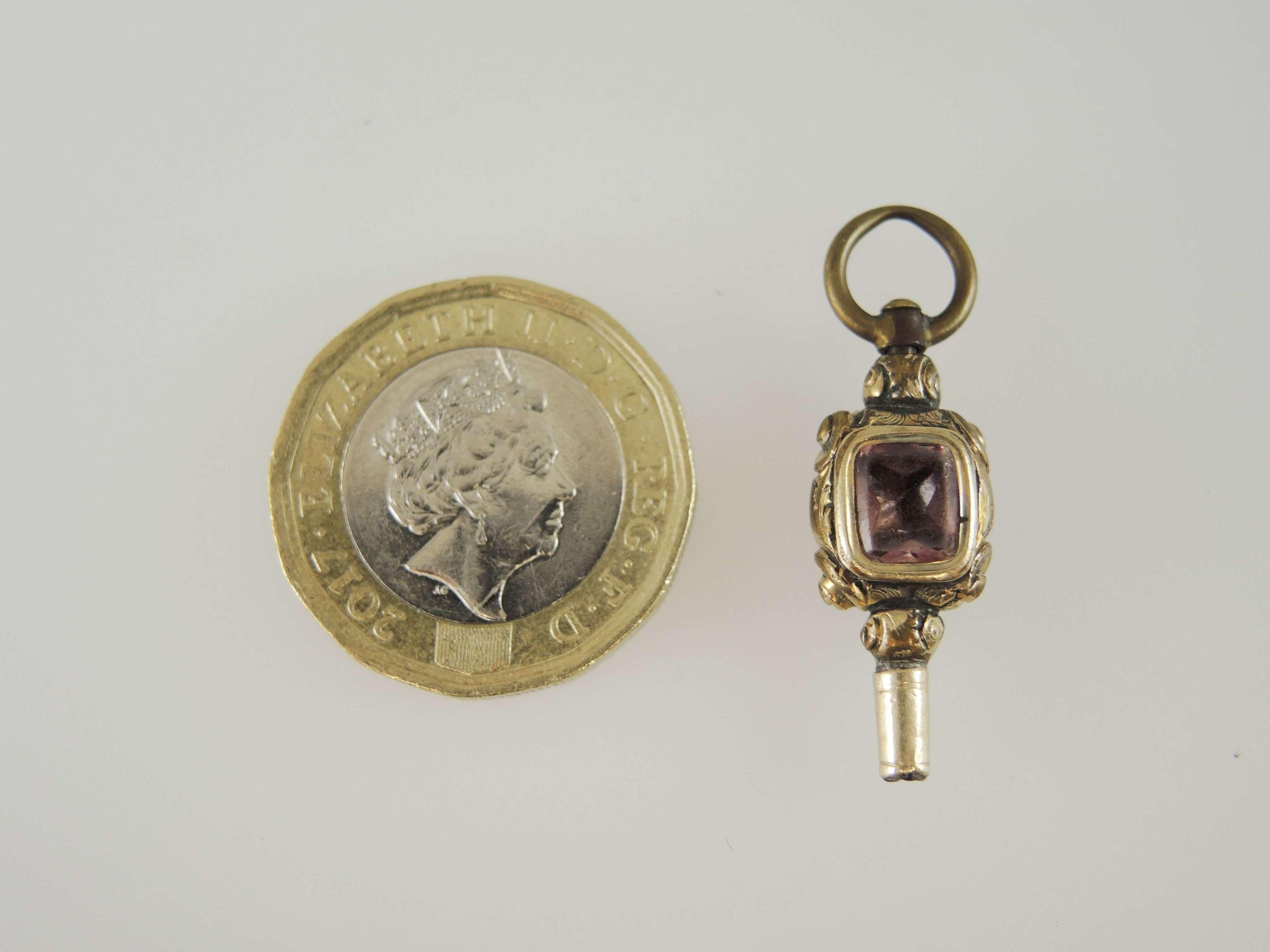 Antique pocket watch key c1880