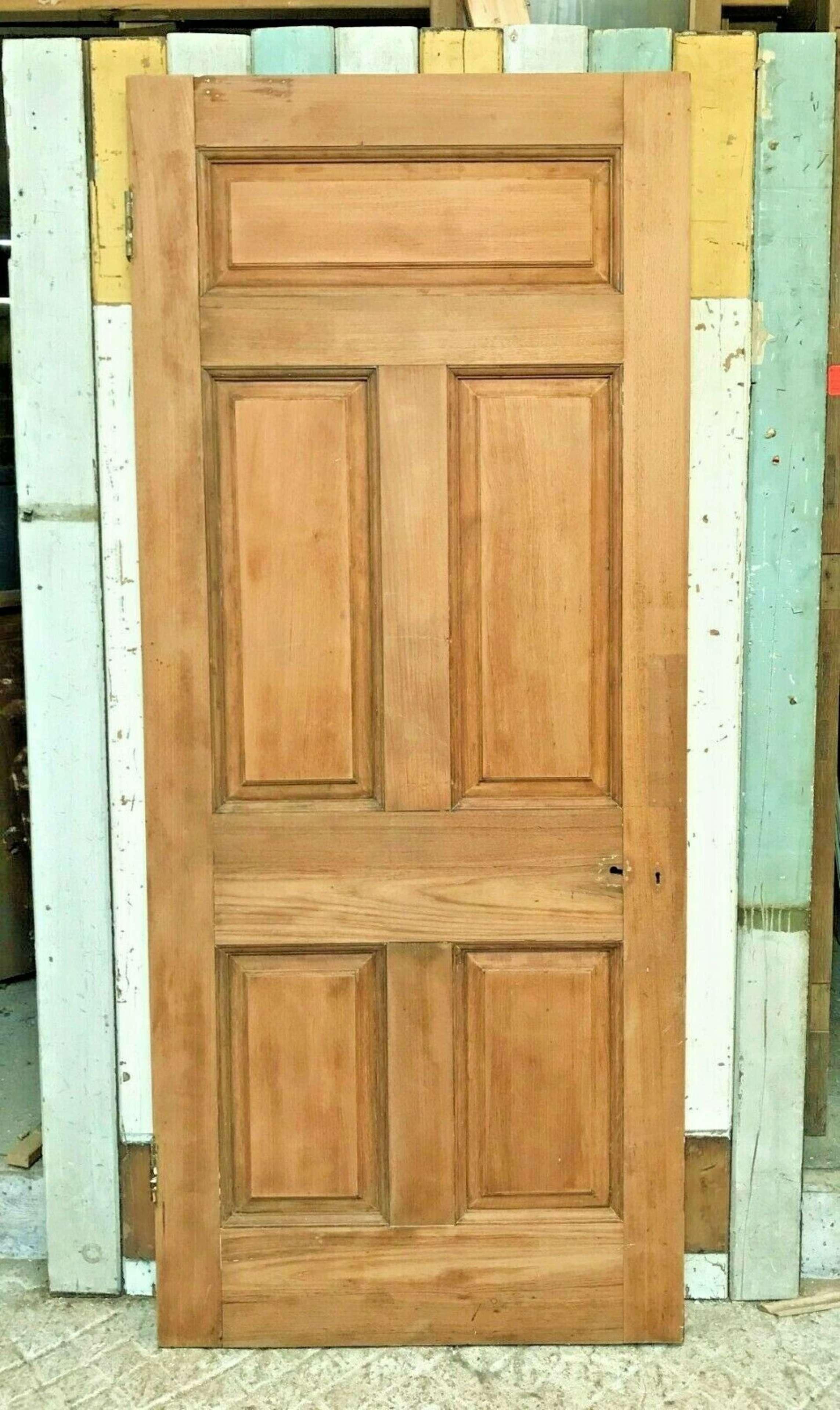 DE0673 A RECLAIMED TEAK INTERIOR / EXTERIOR DOOR