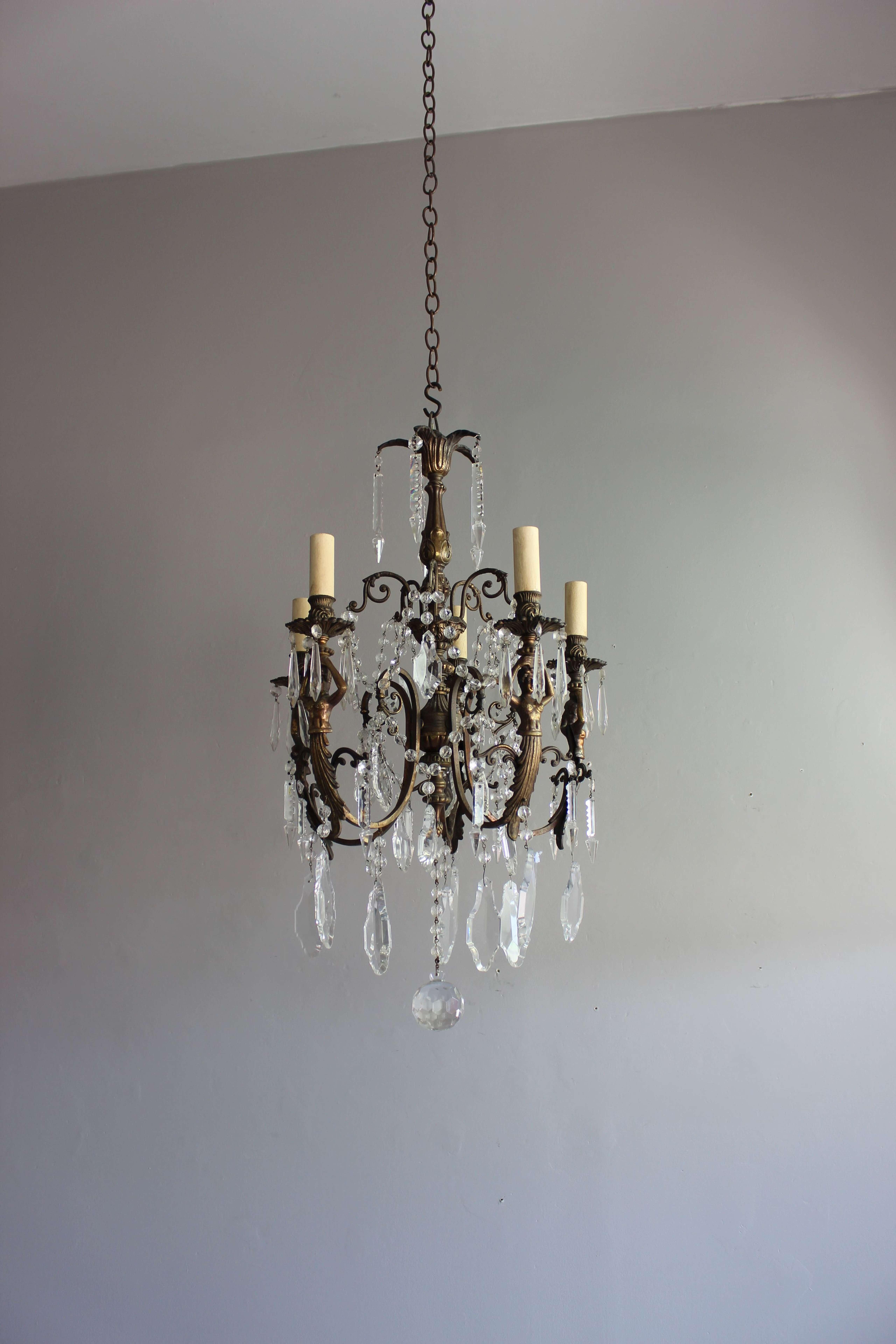 Antique chandelier in the Greek revival manner