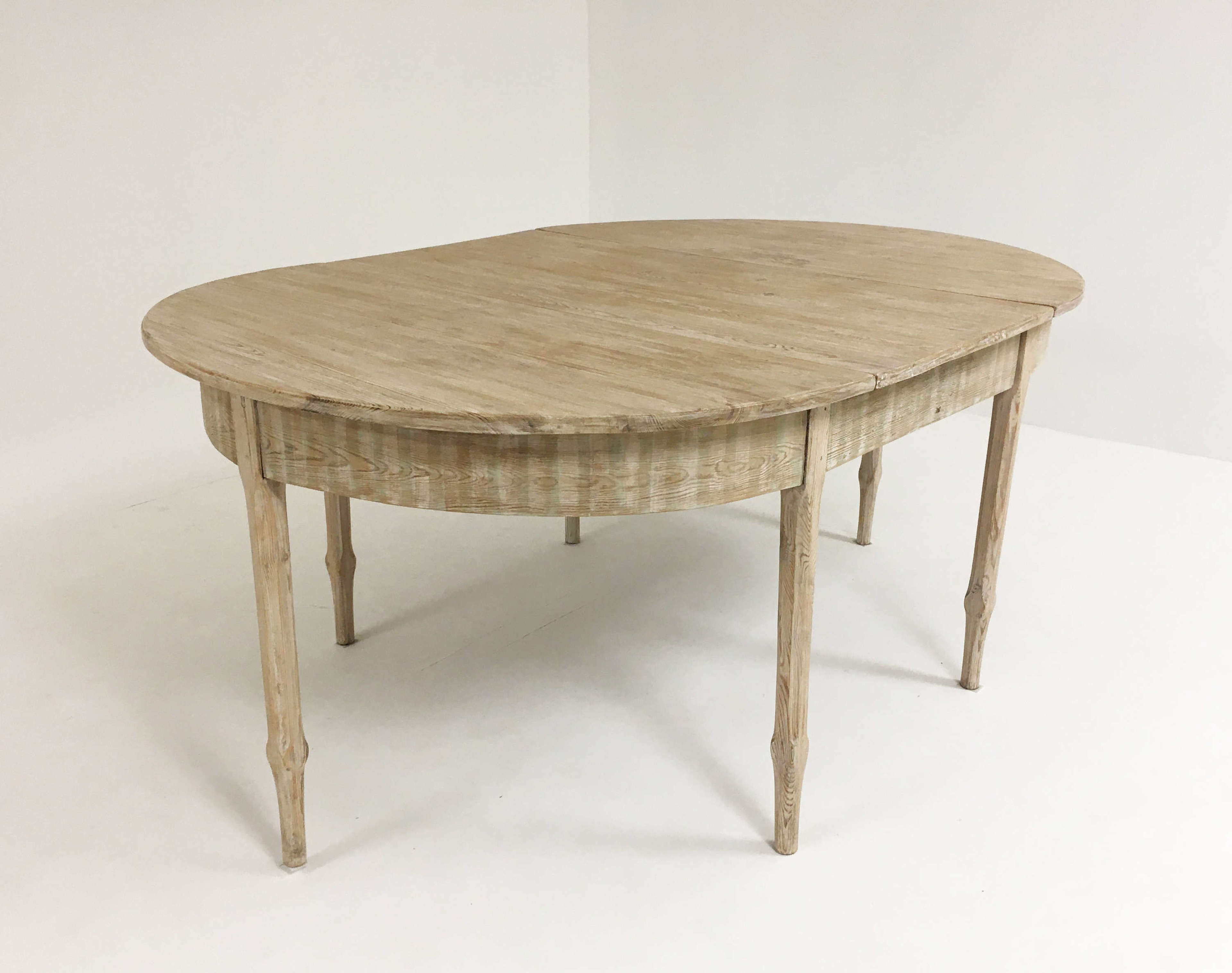 19th c Swedish Dining Table with extension - circa 1860