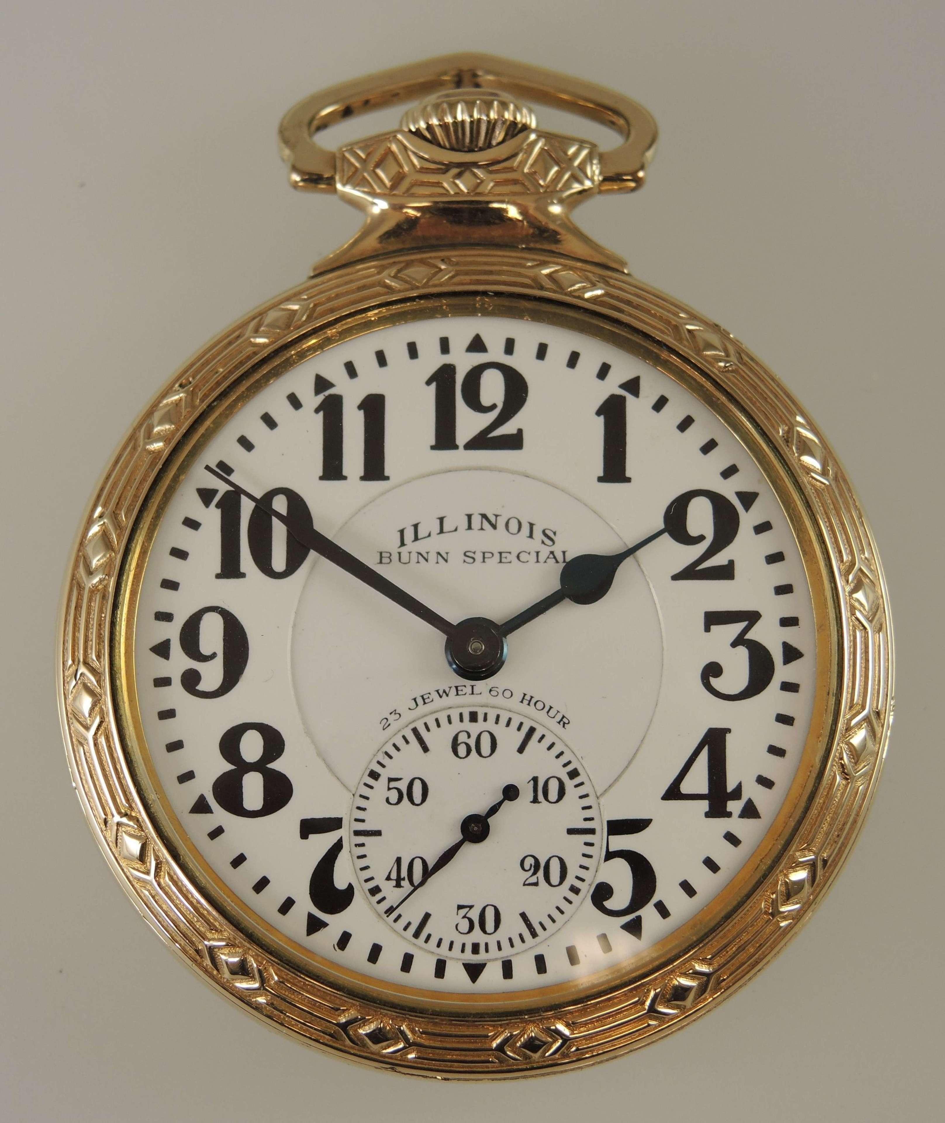 16s 23 Jewel 60 Hour Illinois Bunn Special pocket watch  c1930
