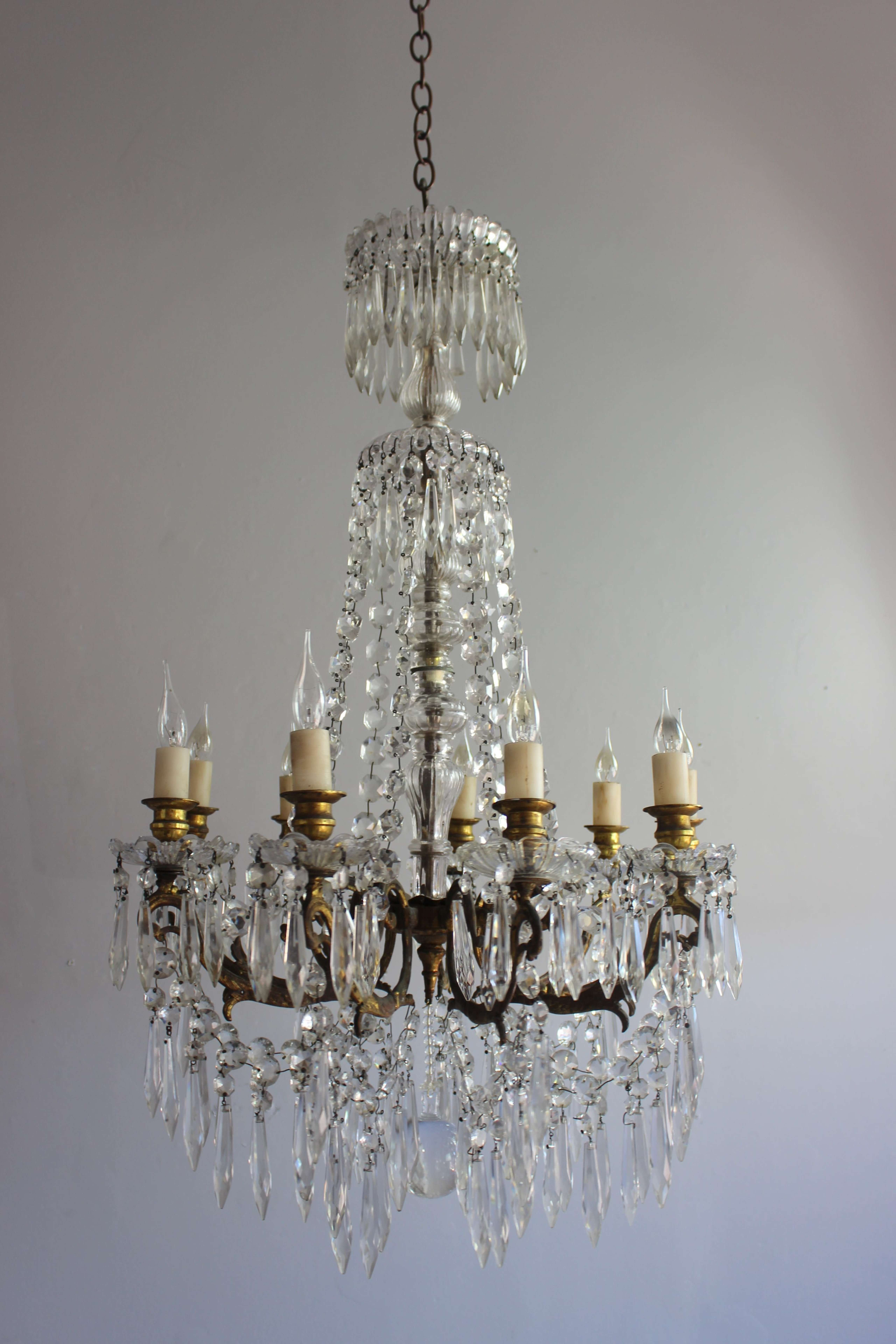 19th C antique chandelier in the Napoleon 111 style