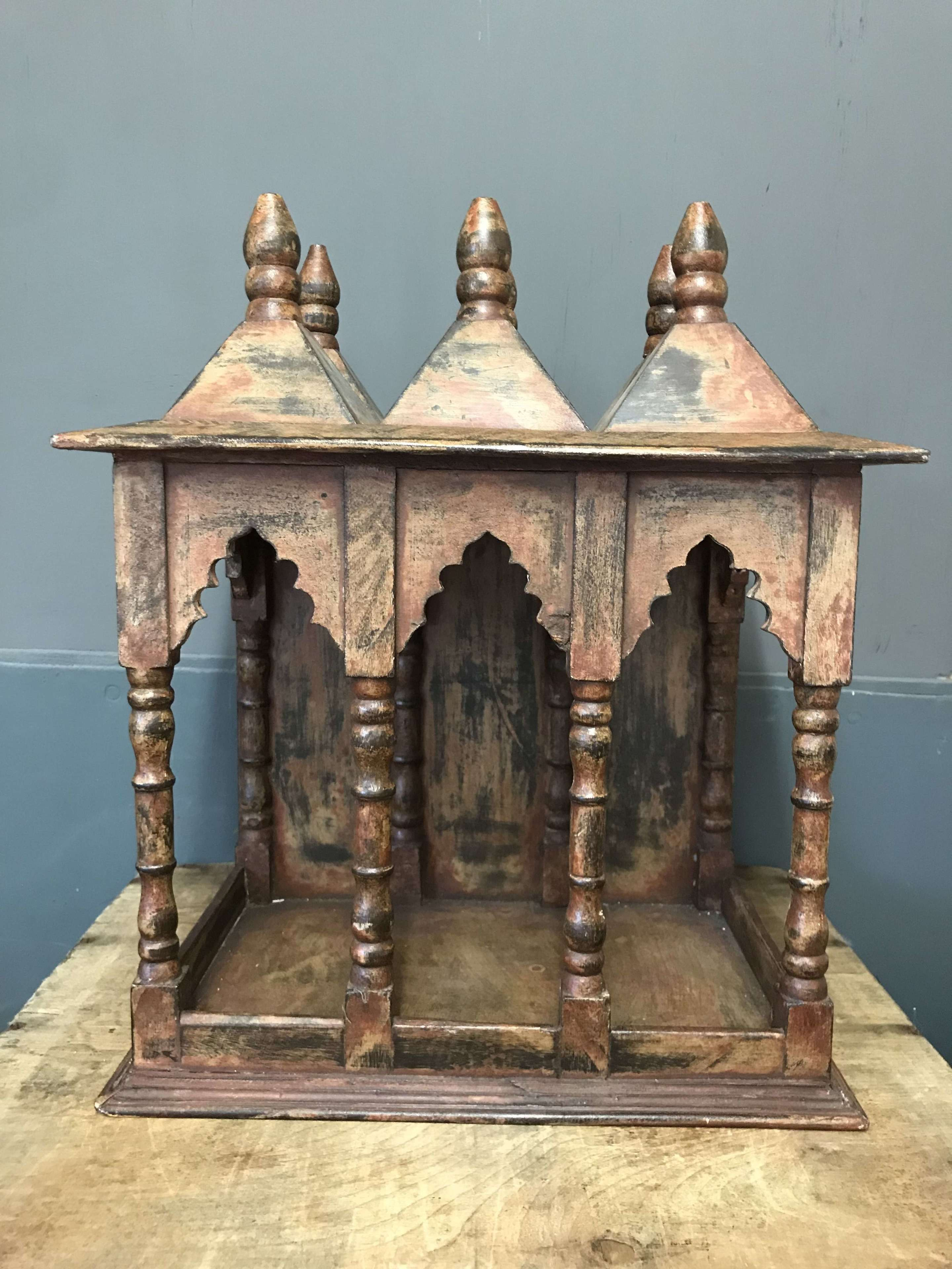Wooden model of an Indian Temple