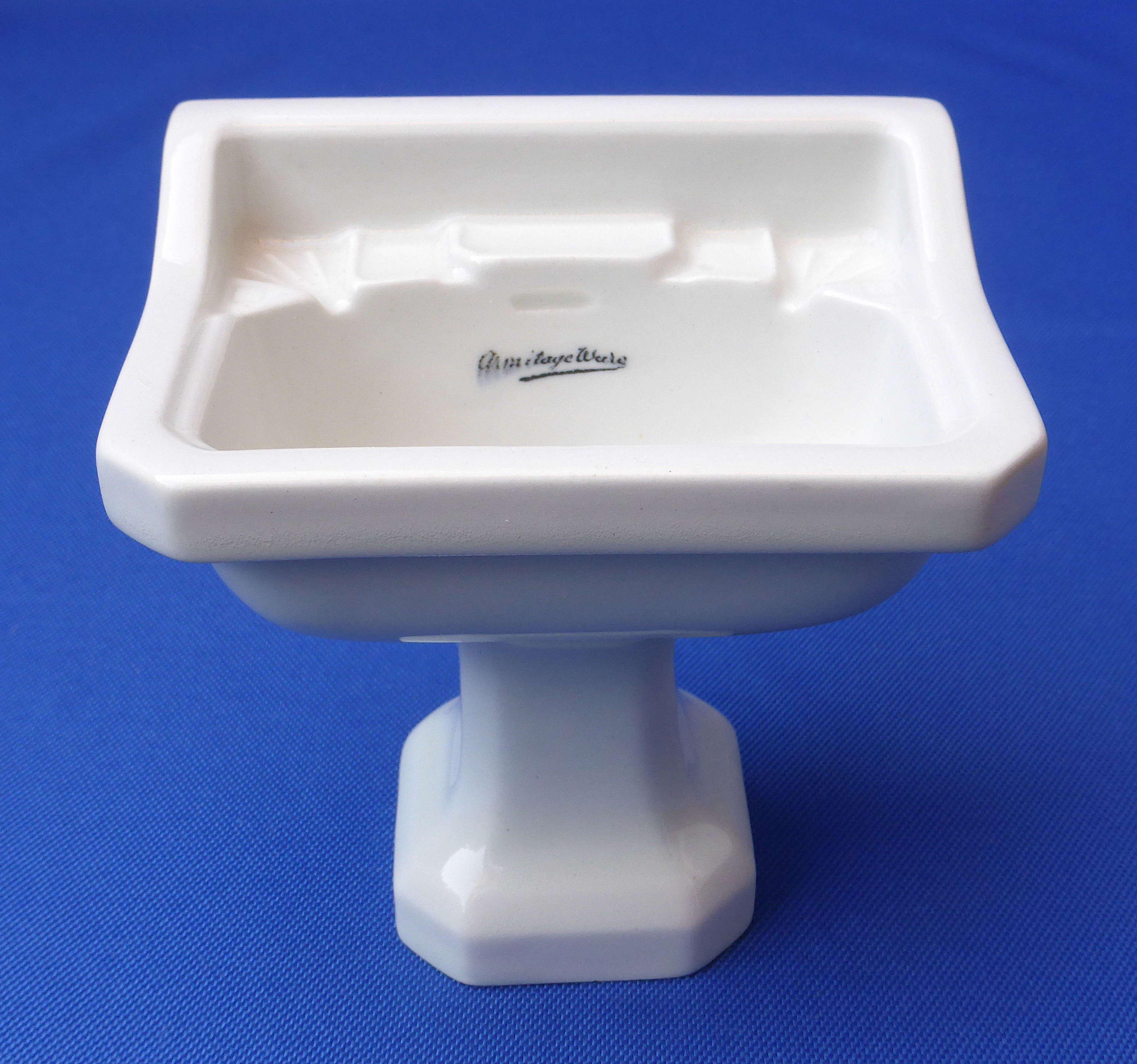 Miniature Armitage salesman's sample sink early 20th century