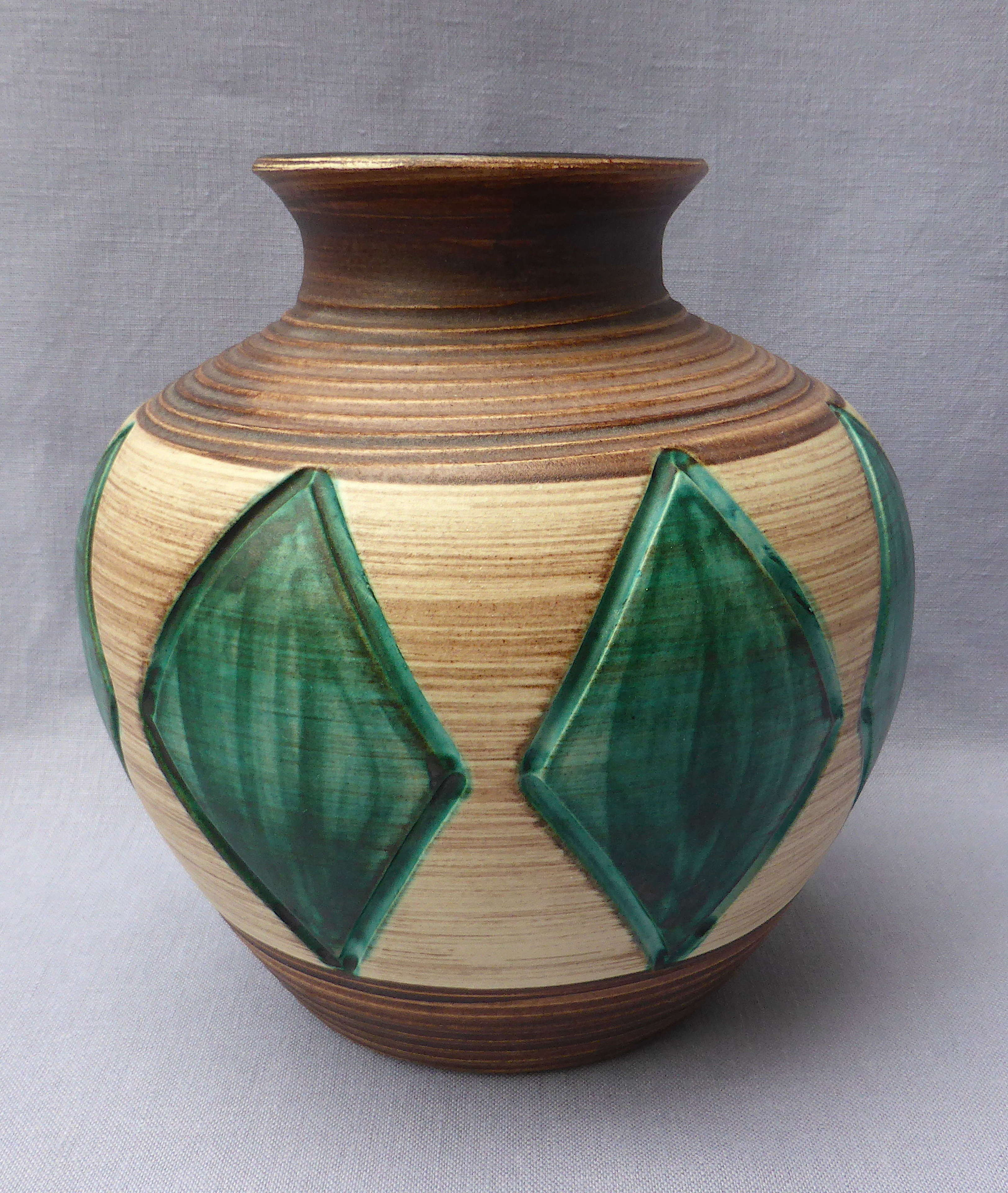 Stylish Large 1950s Stoneware Vase