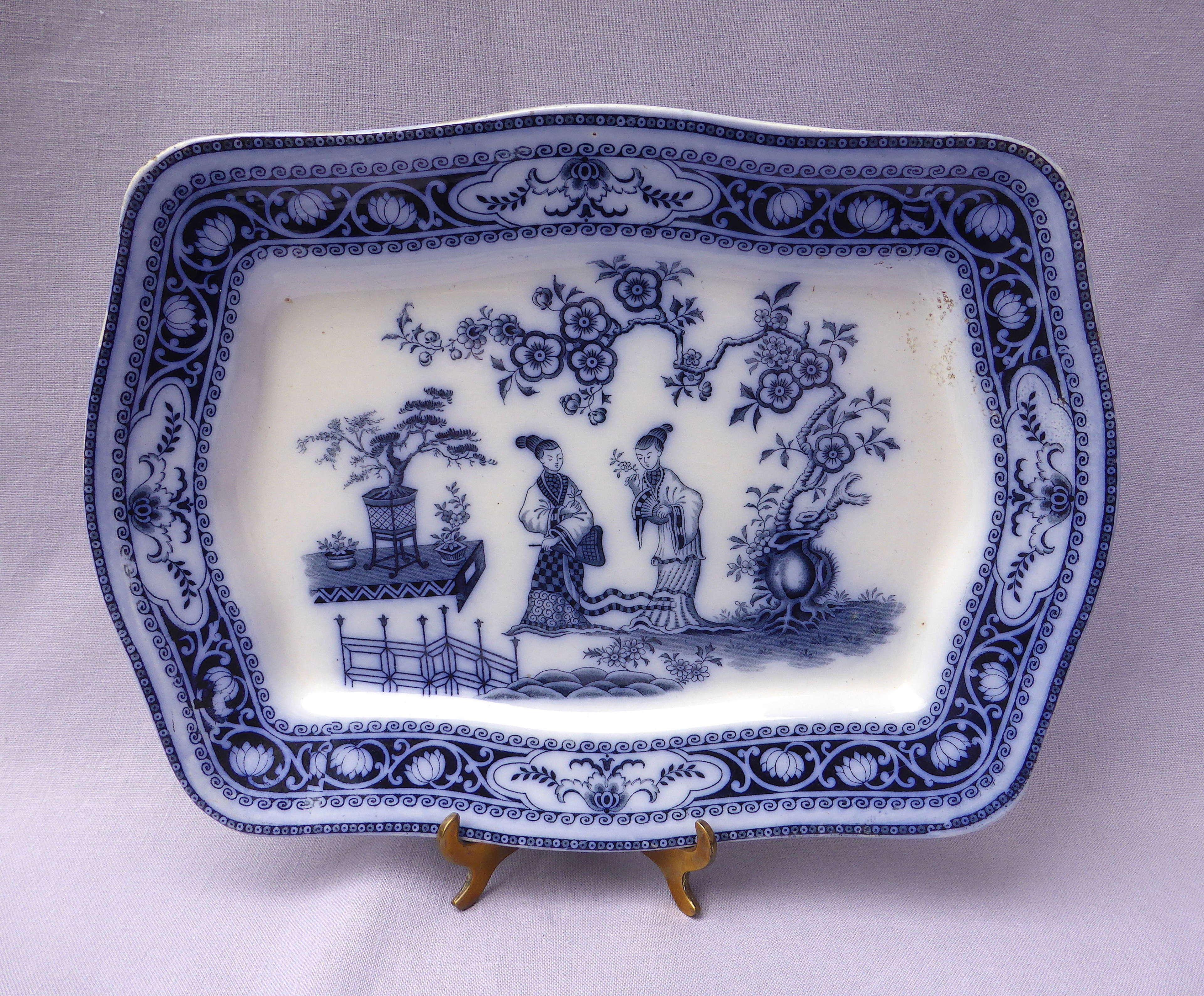 Sampson Hancock Blue & White Oriental Cheng Platter