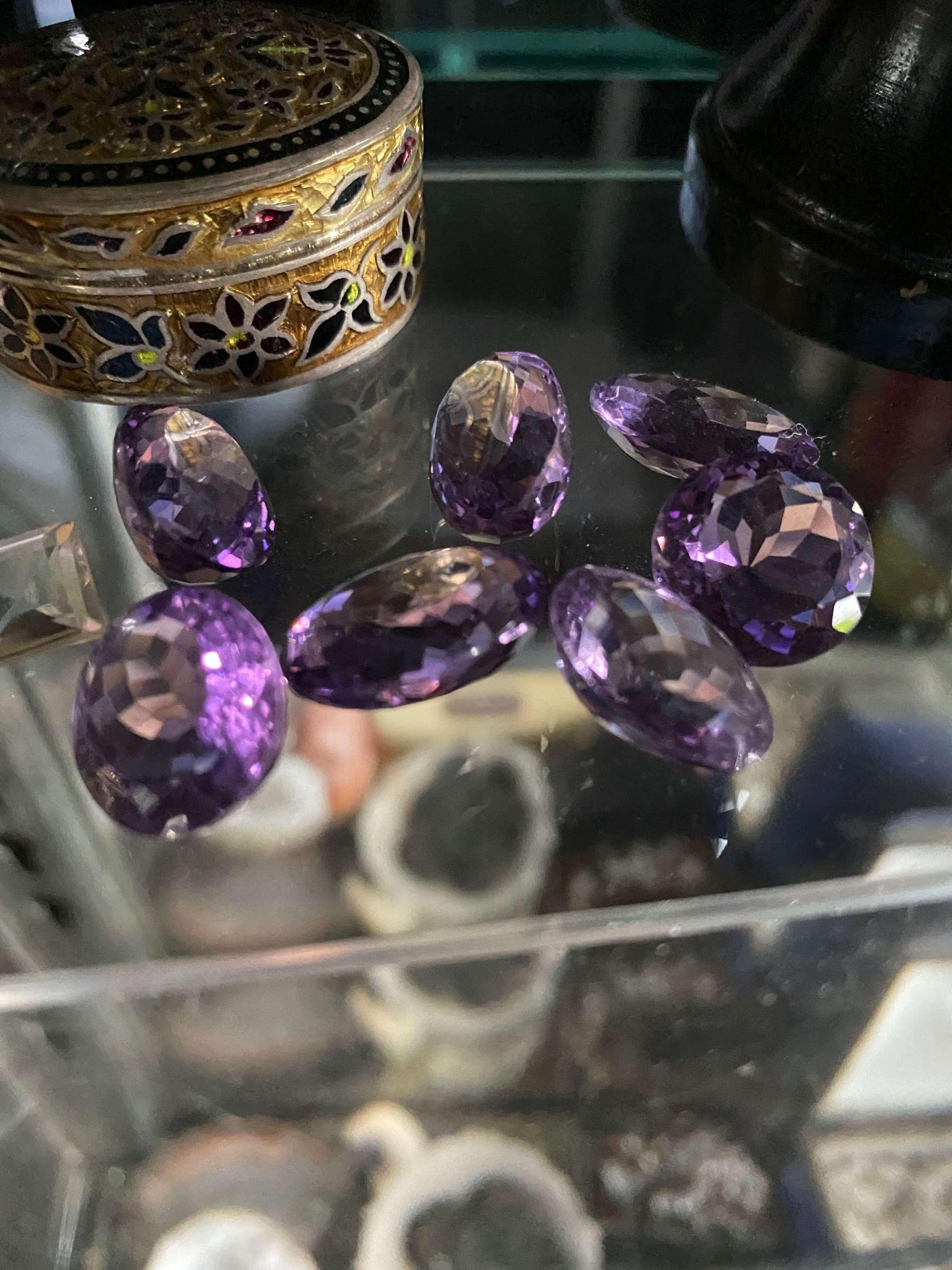 Old amethyst stones