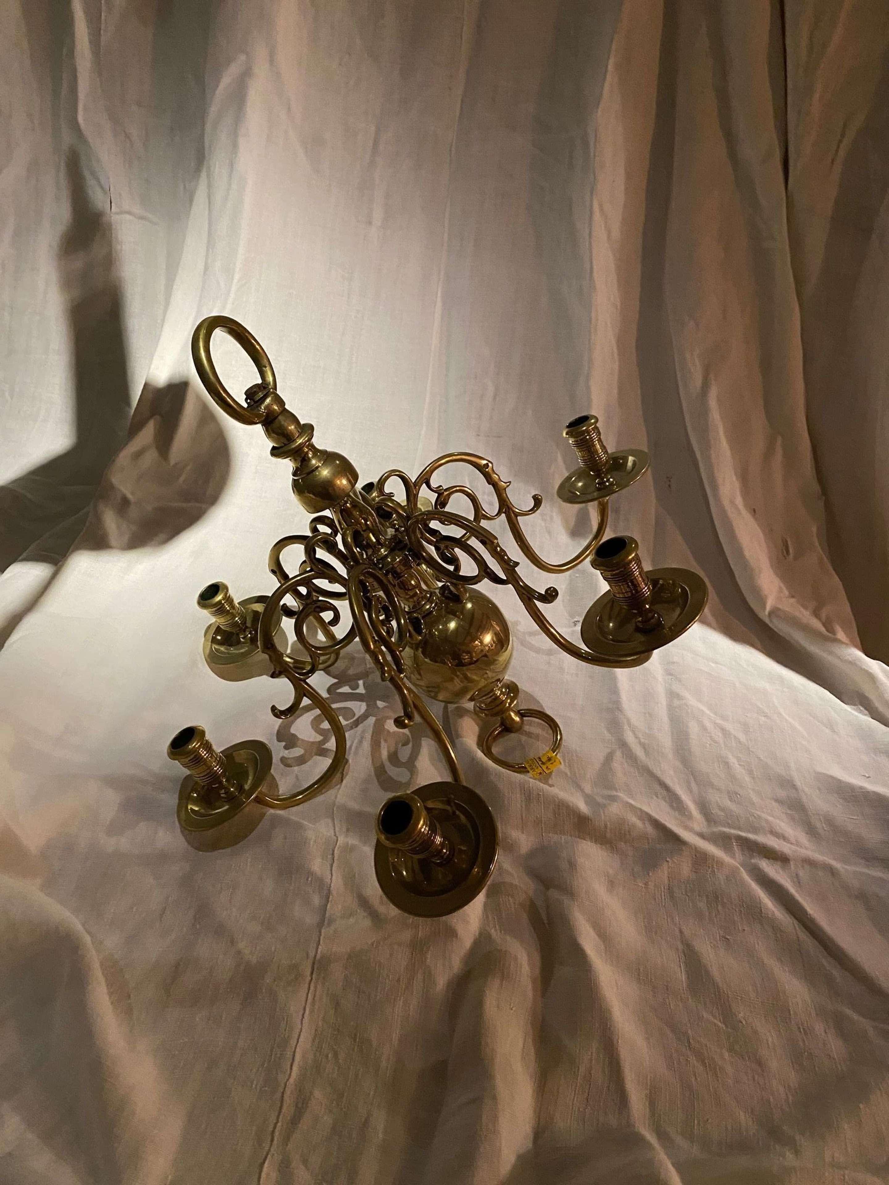 Small Dutch brass chandelier